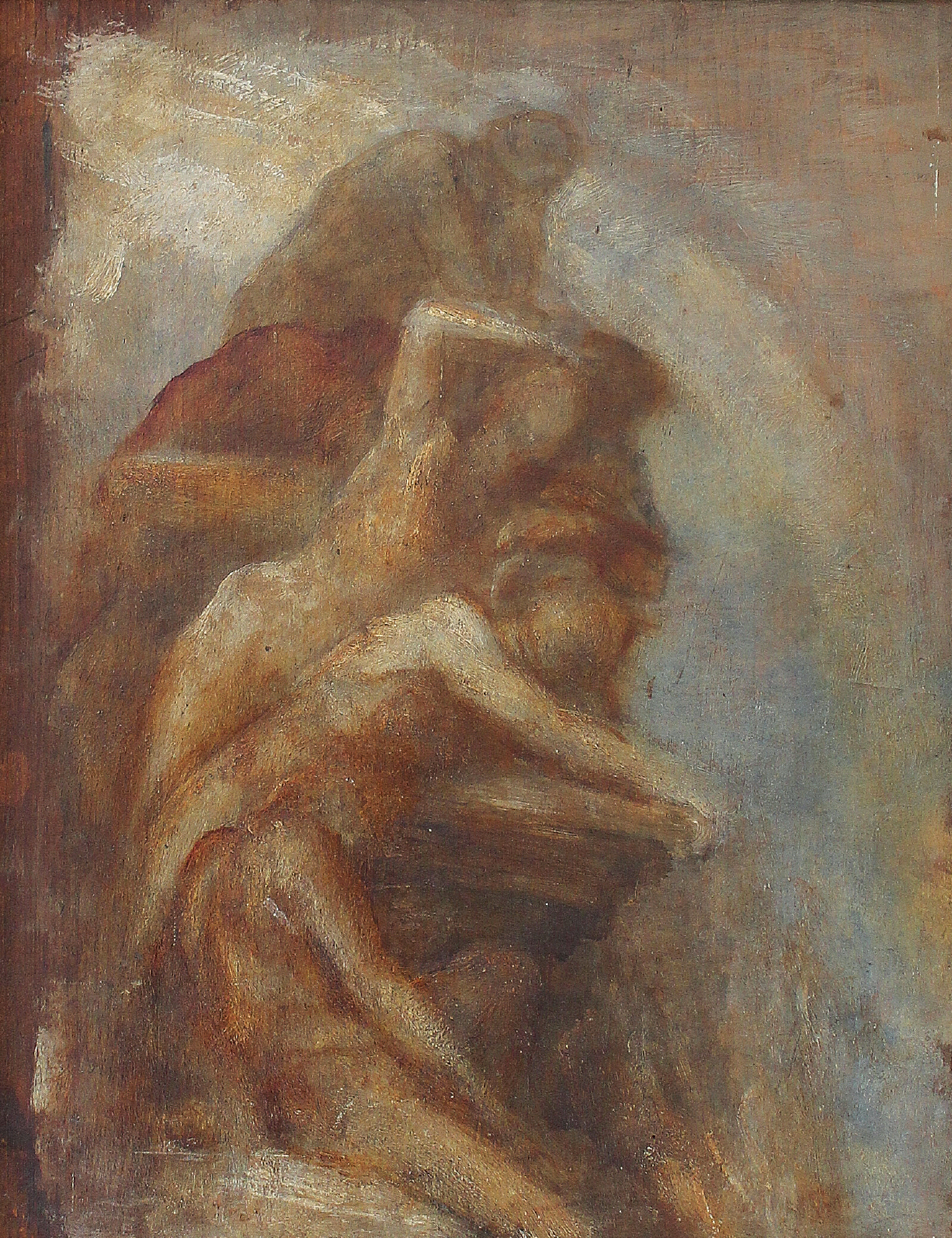 GEORGE FREDERICK WATTS, O.M., R.A. | Fire, Study for the Carlton House Terrace Fresco, The Elements