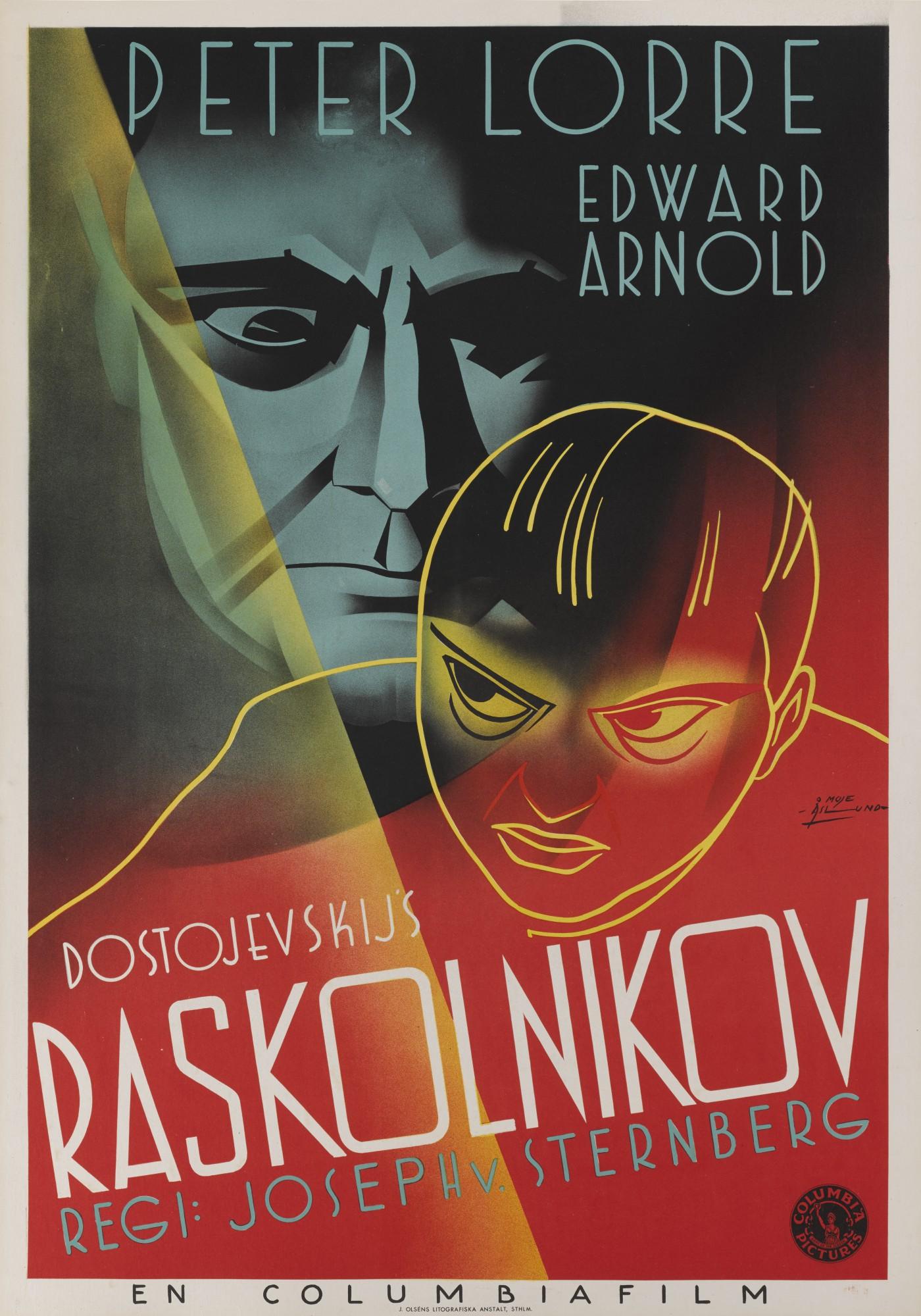 CRIME AND PUNISHMENT/RASKOLNIKOV (1935) POSTER, SWEDISH