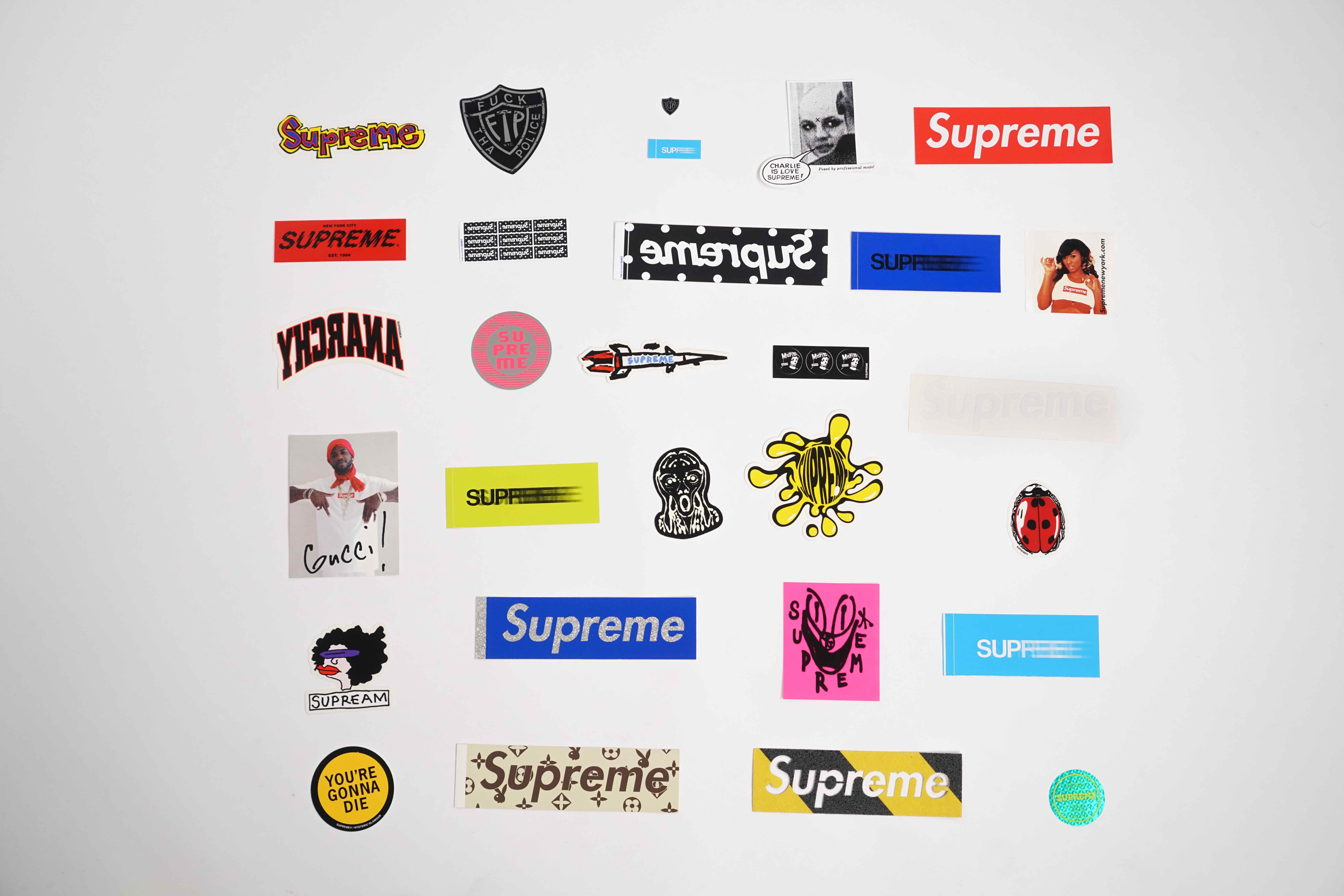 View full screen - View 1 of Lot 143. SUPREME STICKERS [29 PIECES].