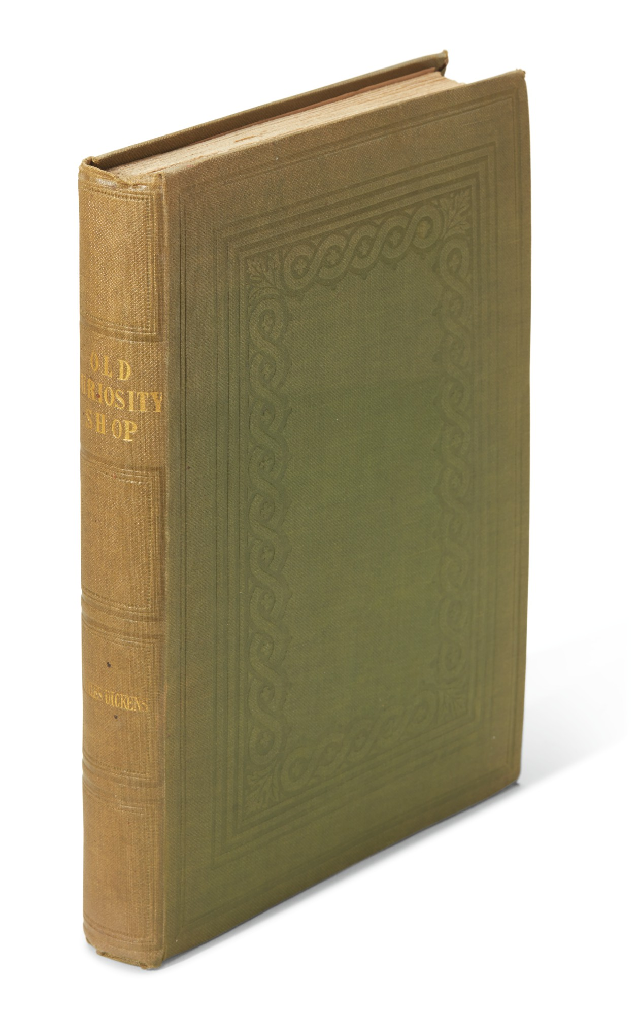 Dickens, The Old Curiosity Shop, 1841, first separate edition, bound from the weekly parts, binding variant