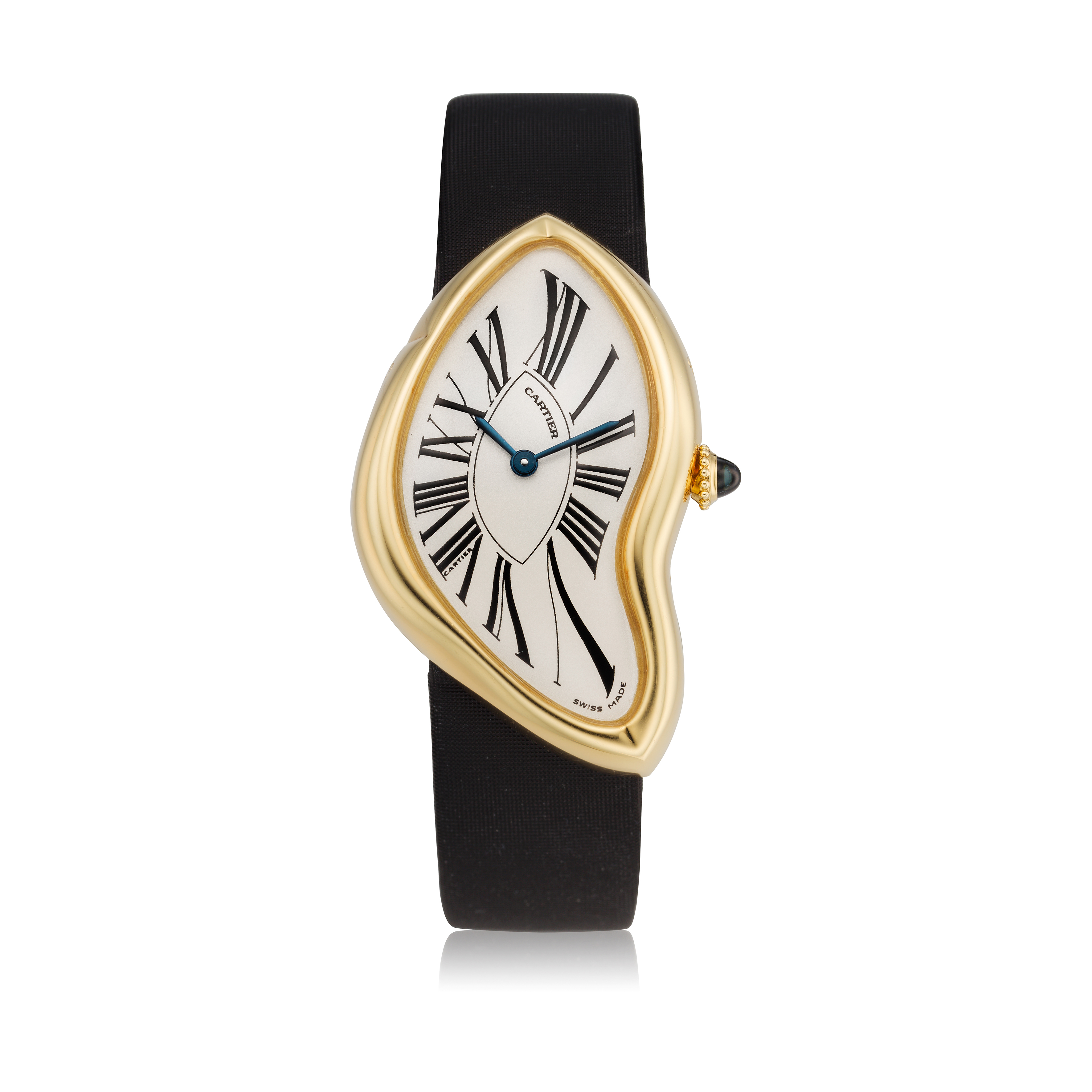 View full screen - View 1 of Lot 306. Crash  A commissioned piece yellow gold asymmetrical wristwatch, Circa 2007.
