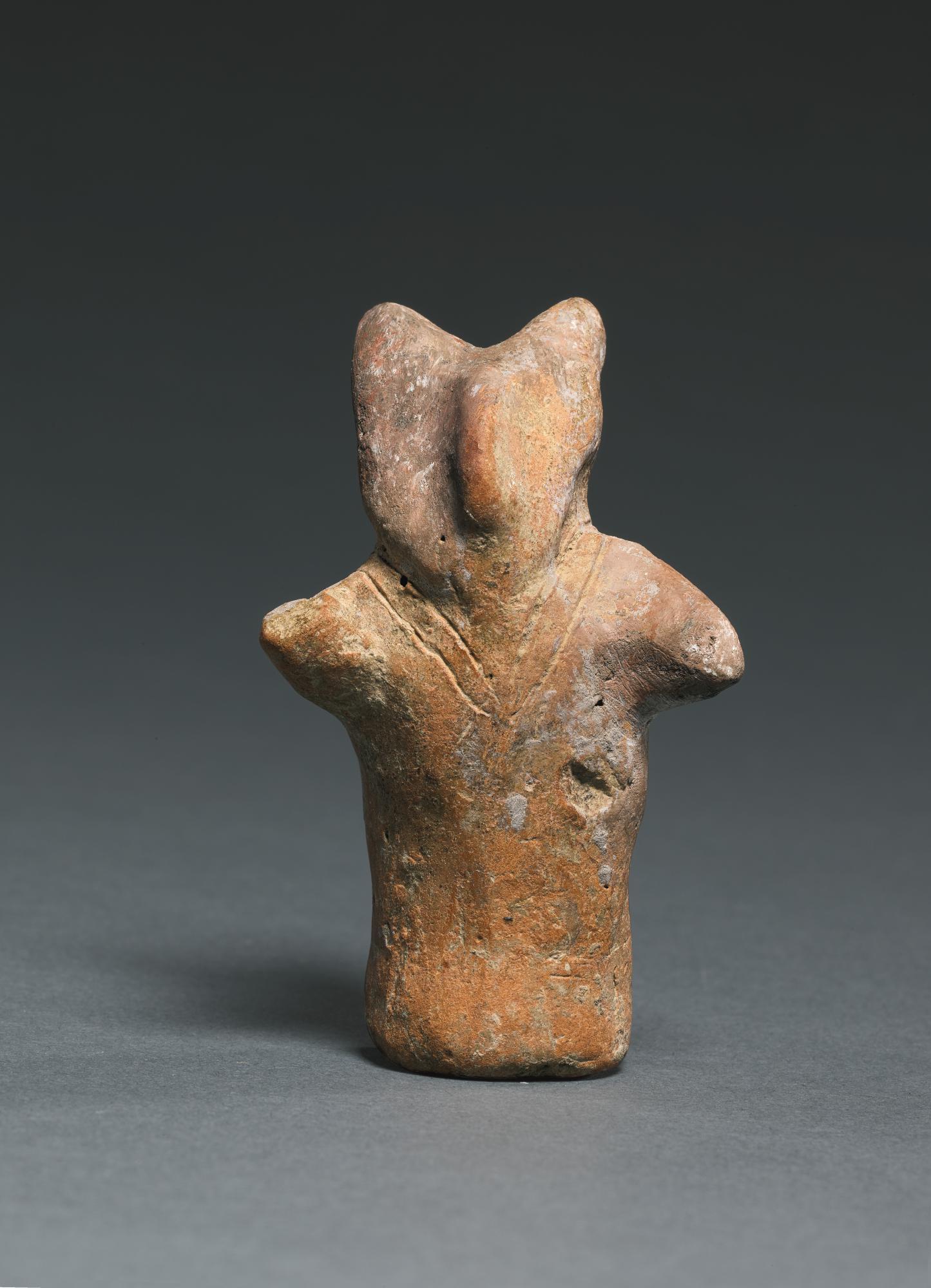 A TERRACOTTA ZOOMORPHIC FIGURE, STARČEVO CULTURE, EARLY NEOLITHIC PERIOD, 6200-5600 B.C.