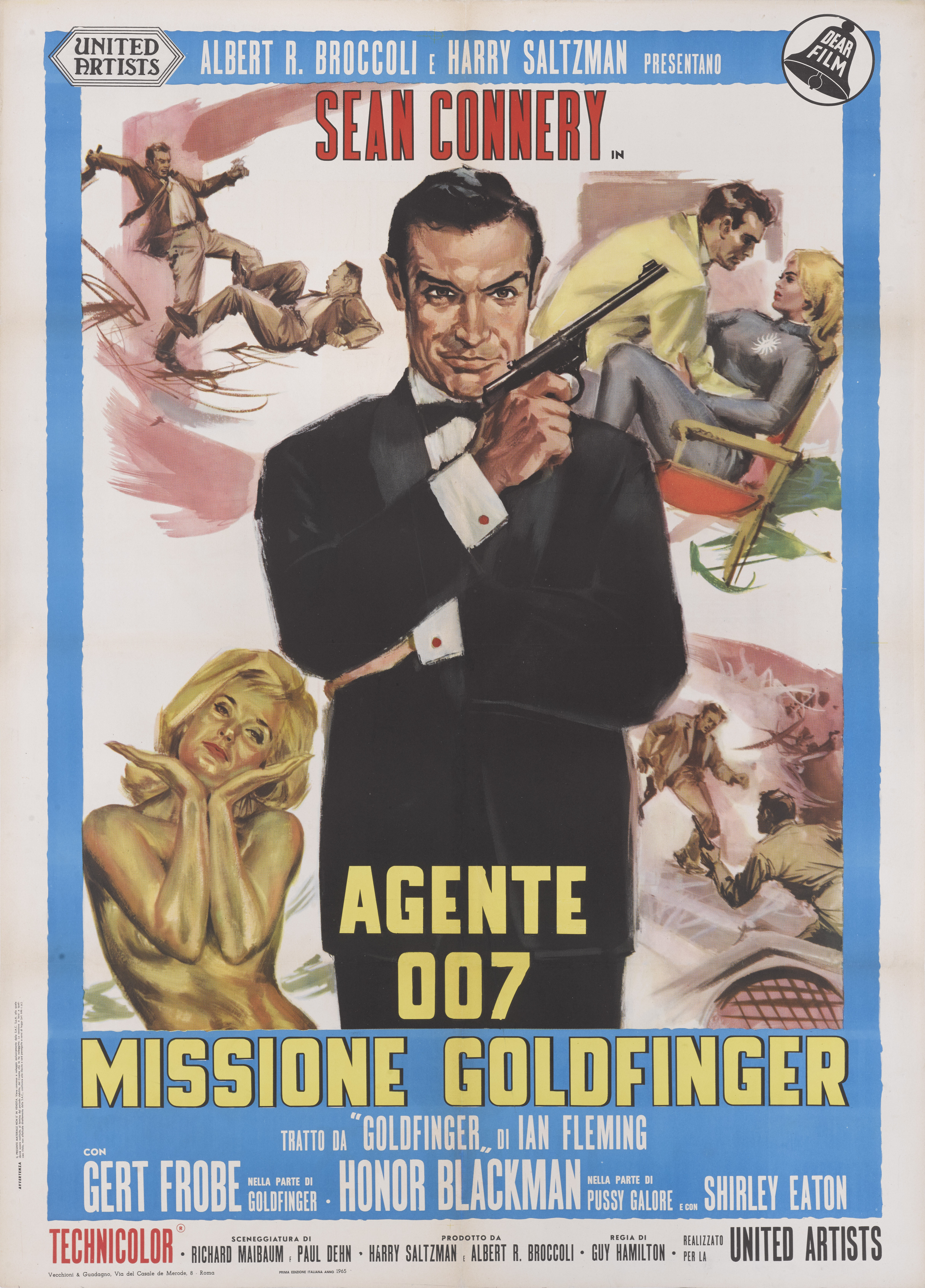 View full screen - View 1 of Lot 46. GOLDFINGER / AGENTE 007, MISSIONE GOLDFINGER (1964) POSTER, ITALIAN  .