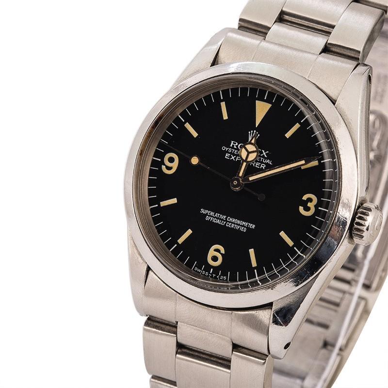 ROLEX  Explorer, Ref. 1016, A Stainless Steel Wristwatch with Bracelet, Circa 1979