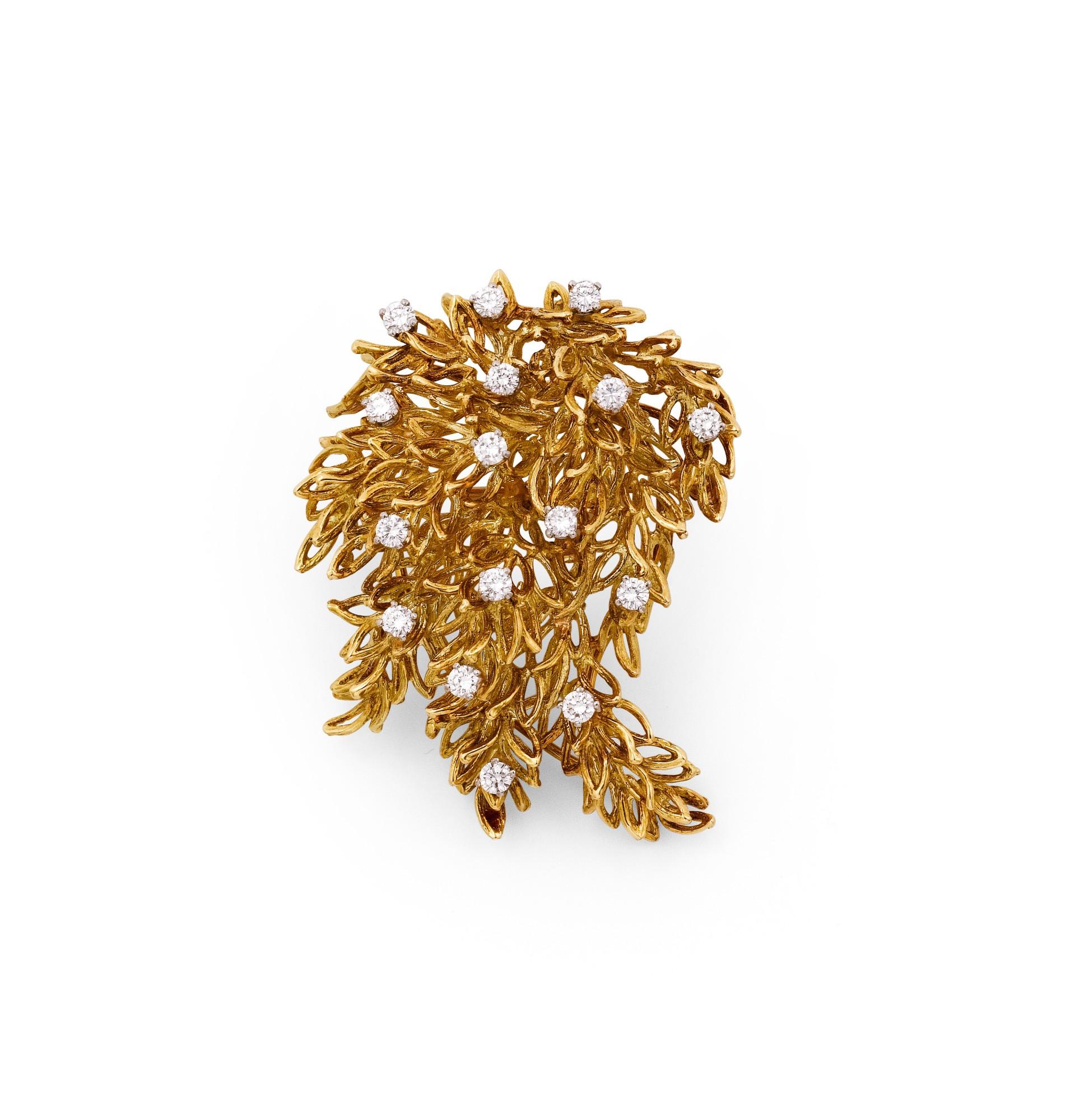 Diamond brooch [Broche diamants]