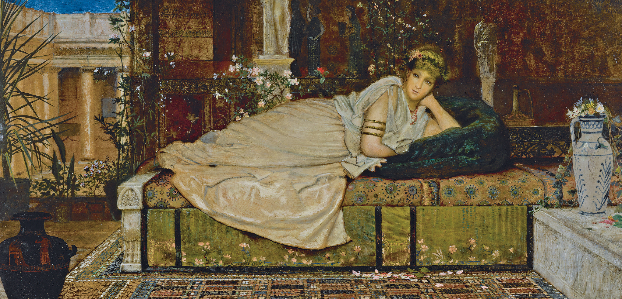 JOHN ATKINSON GRIMSHAW   A Lady in a Classical Interior