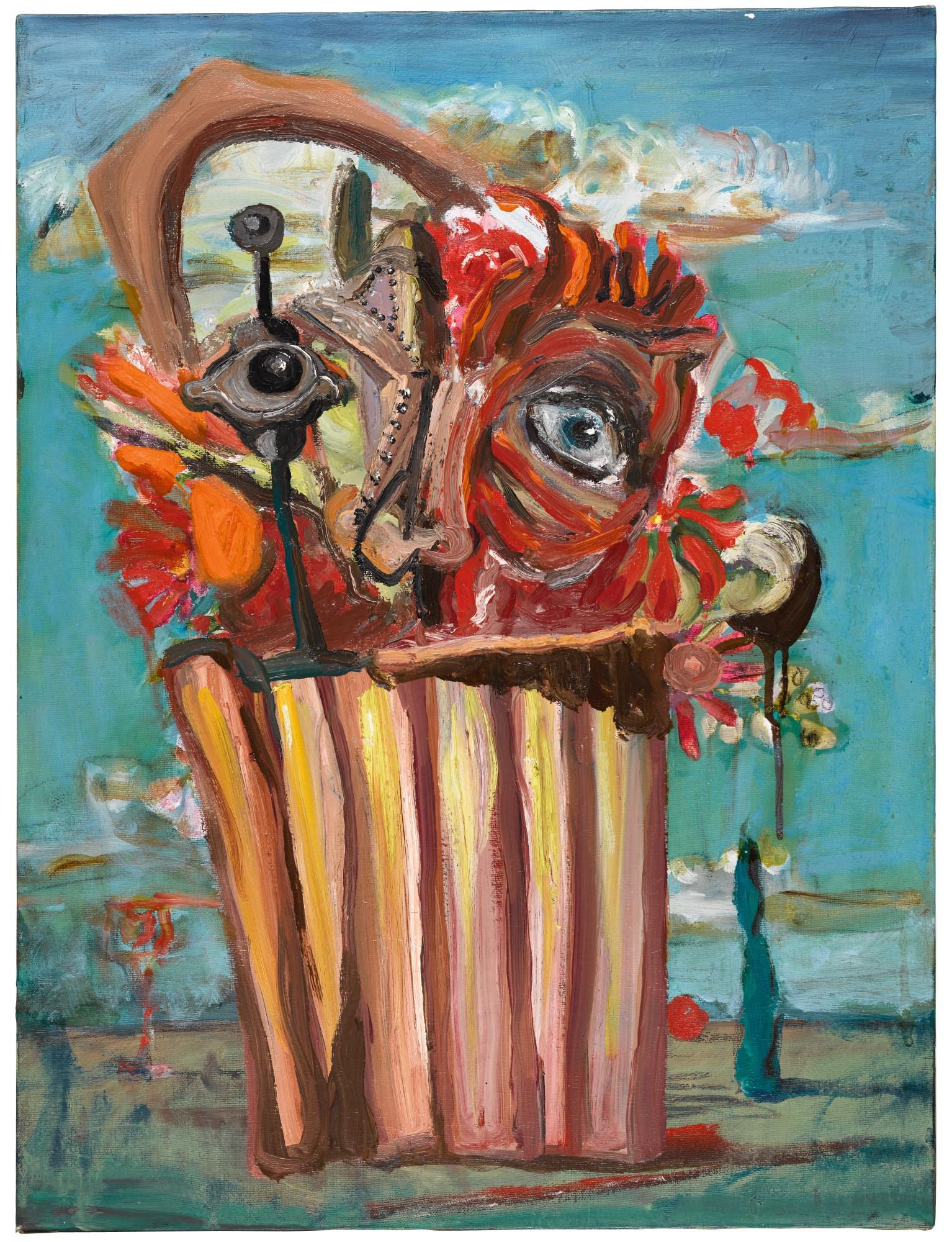 GEORGE CONDO   SKUM- BUCKET- FLOWER BASKET