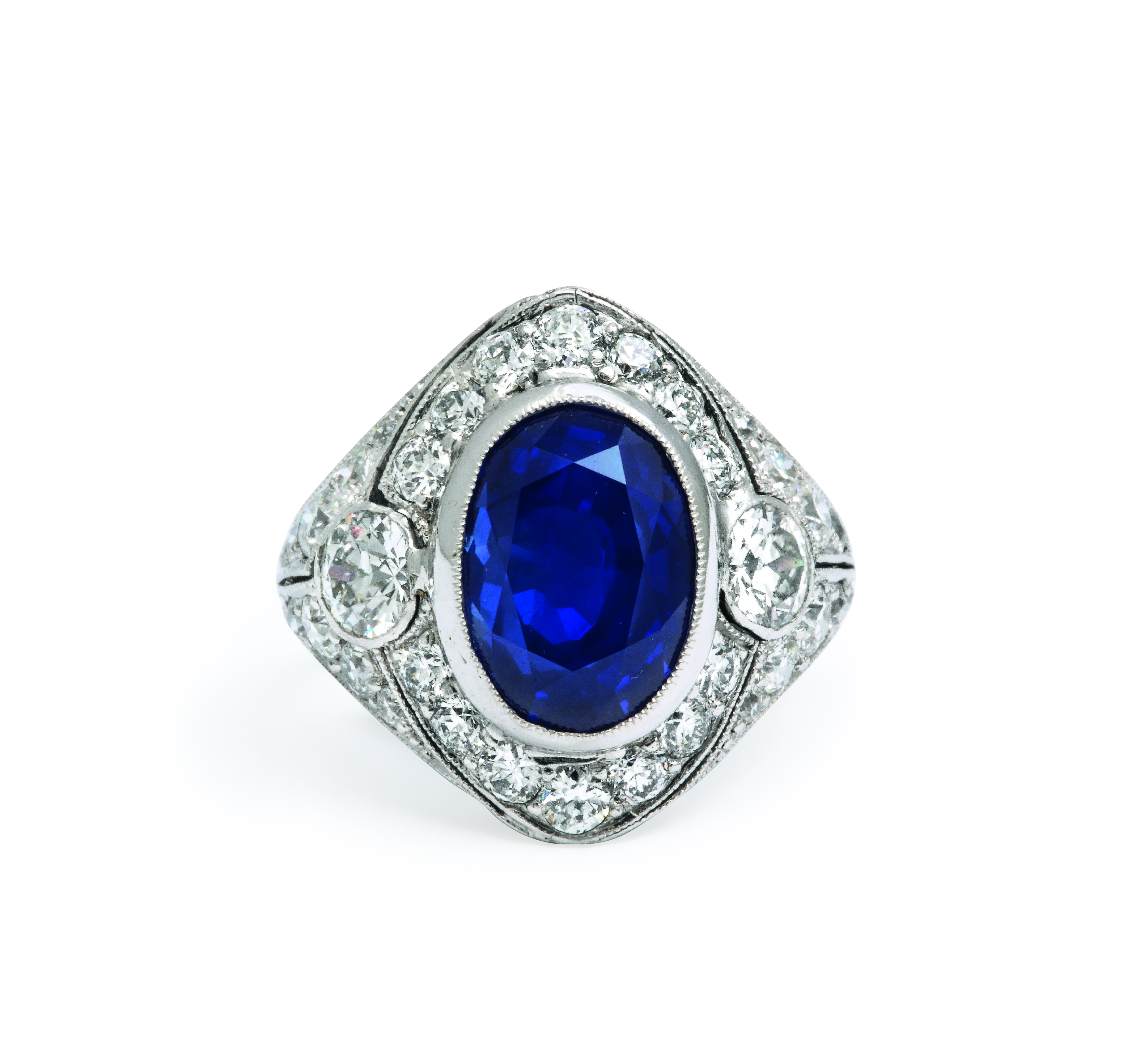 View full screen - View 1 of Lot 43.  MARCUS & CO.   SAPPHIRE AND DIAMOND RING.