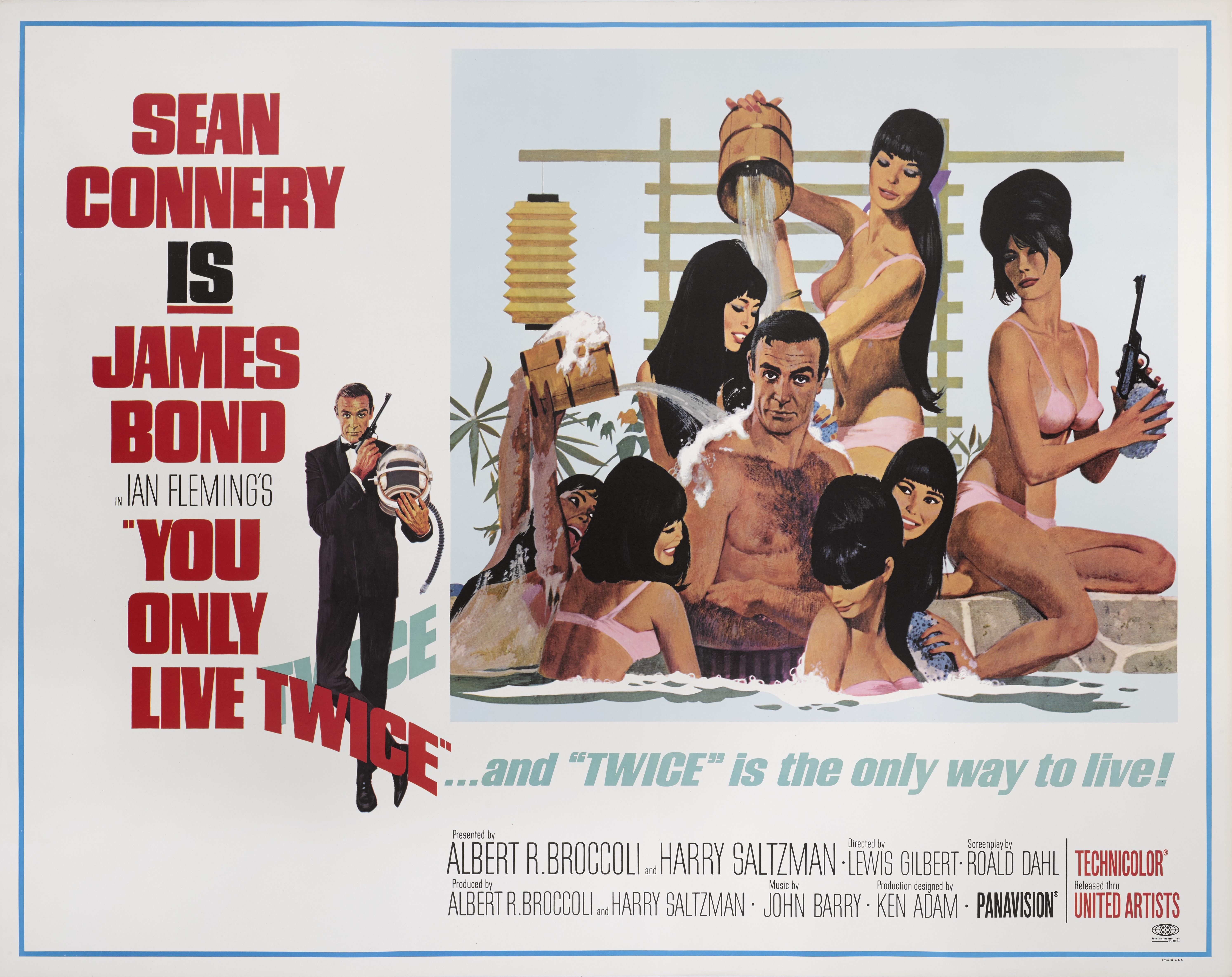 View full screen - View 1 of Lot 73. YOU ONLY LIVE TWICE (1967) POSTER, US, SUBWAY STYLE C (BATHTUB).