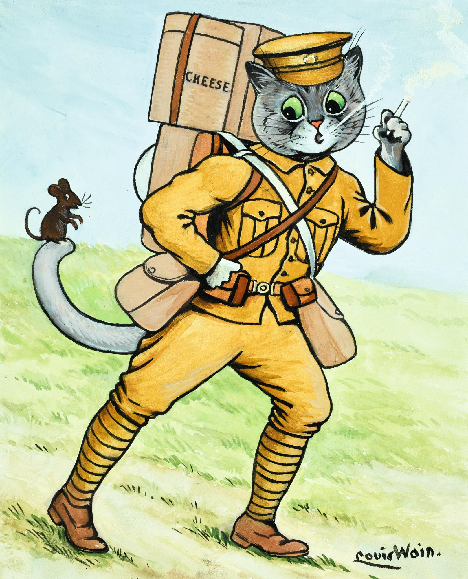 LOUIS WAIN | THE SOLDIER CAT