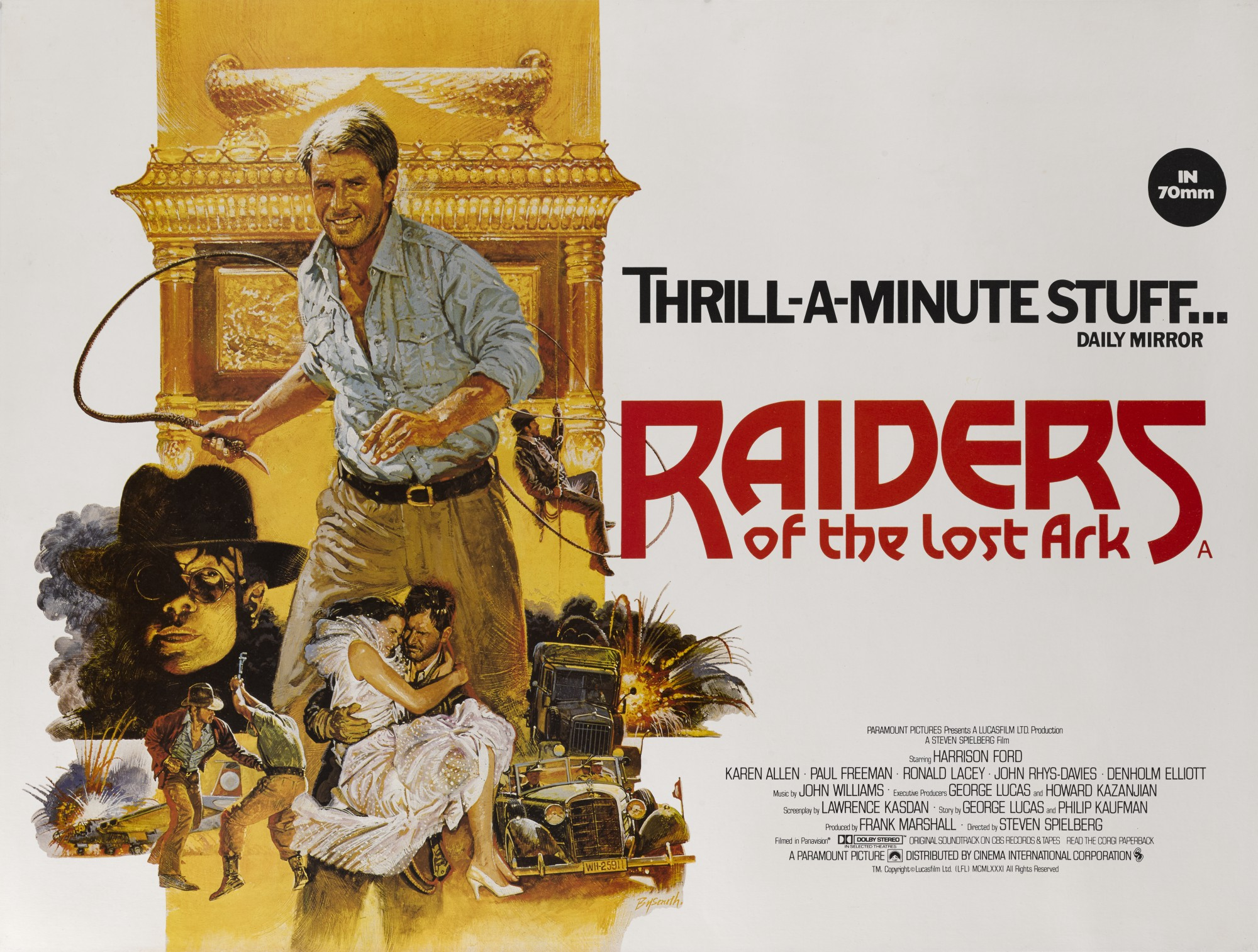 RAIDERS OF THE LOST ARK (1981) POSTER, BRITISH