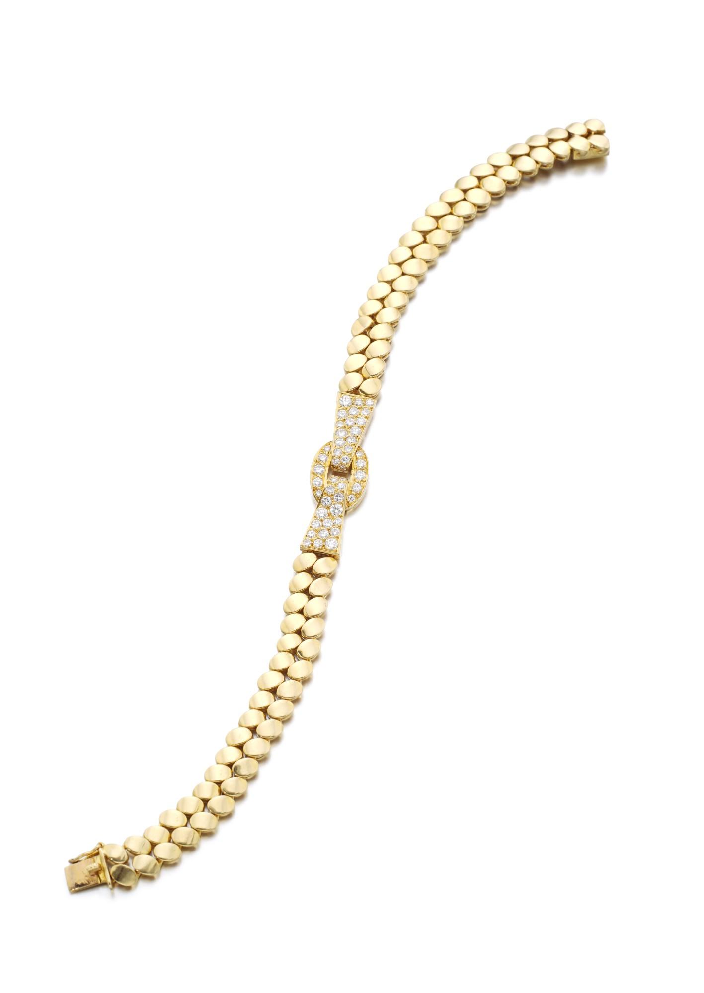 GOLD AND DIAMOND BRACELET | VAN CLEEF & ARPELS