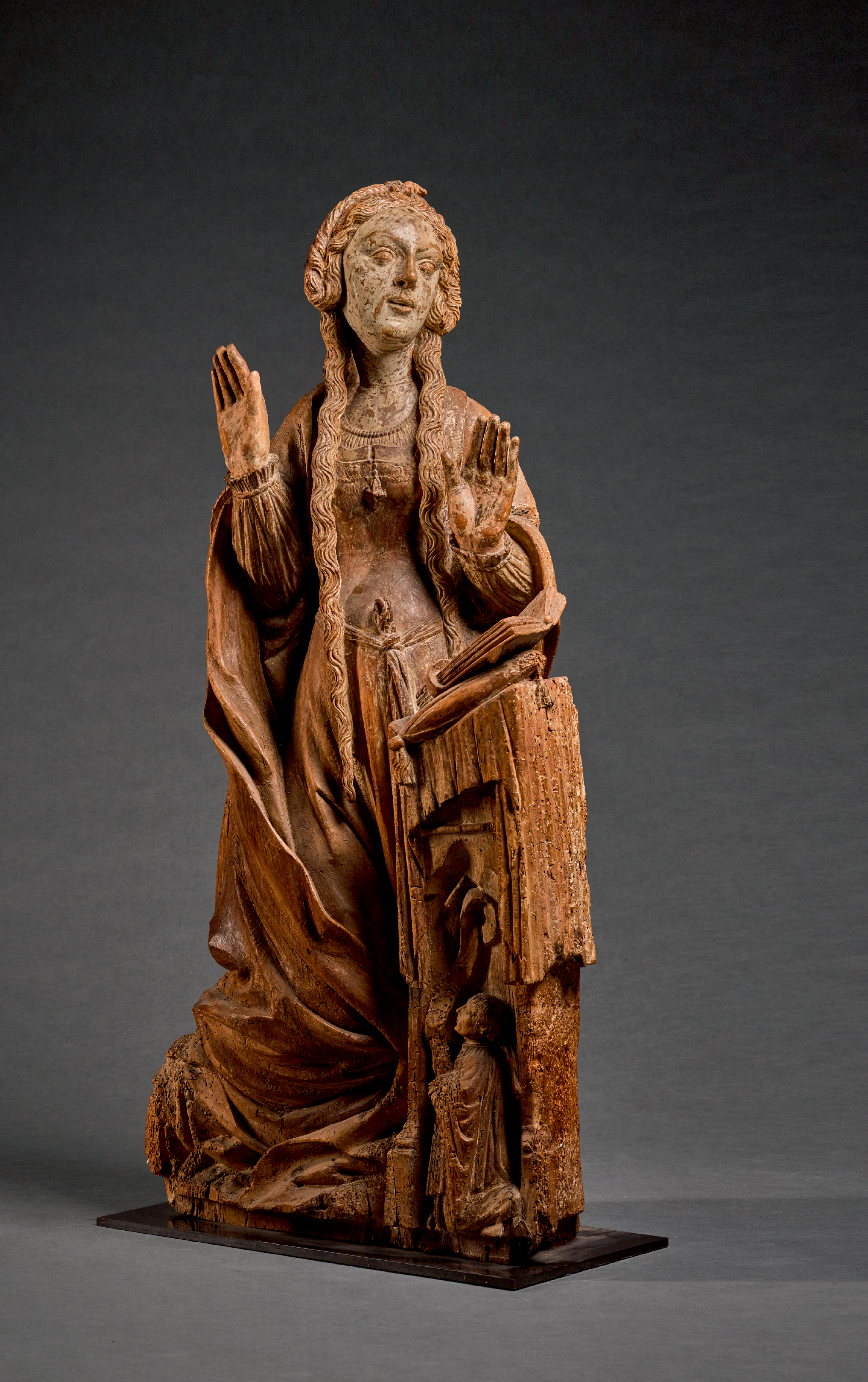 NORTH EASTERN FRENCH, POSSIBLY ARBOIS, CIRCA 1530 | VIRGIN ANNUNCIATE WITH A DONOR