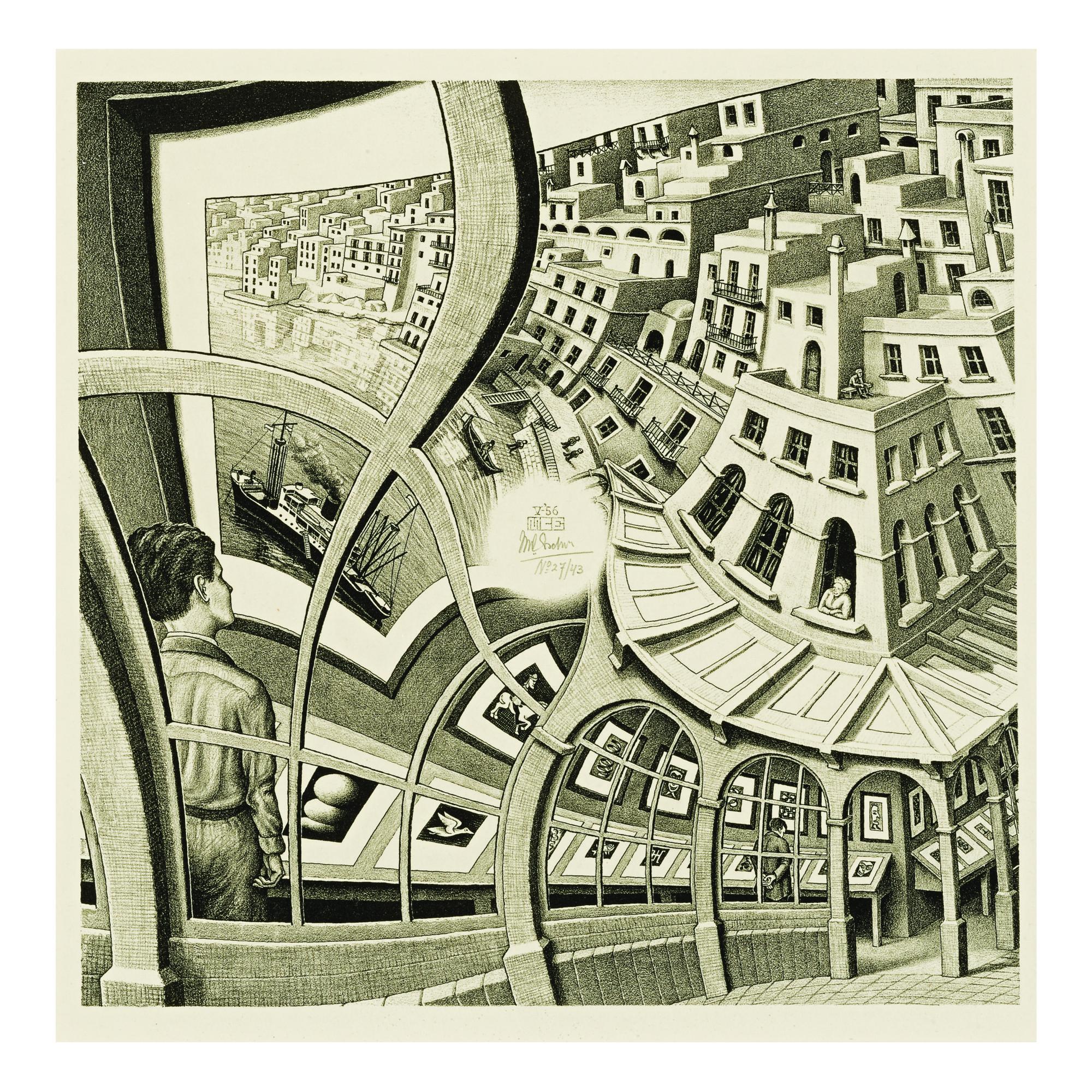 A Mc Escher Optical Illusion Art 20th Century Lessons