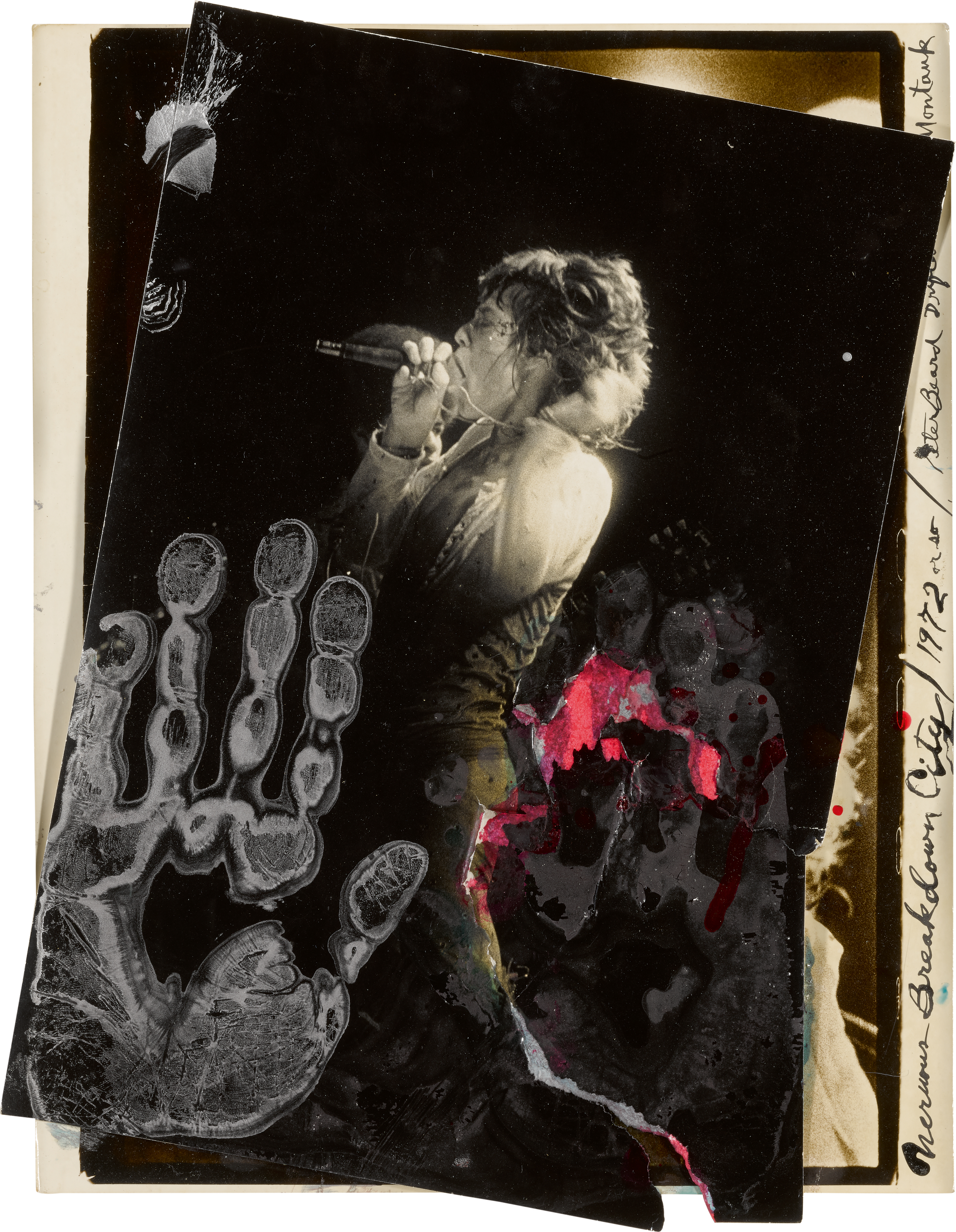 View full screen - View 1 of Lot 35. PETER BEARD | 'NERVOUS BREAKDOWN CITY', MICK JAGGER AT MADISON SQUARE GARDEN, 1972.
