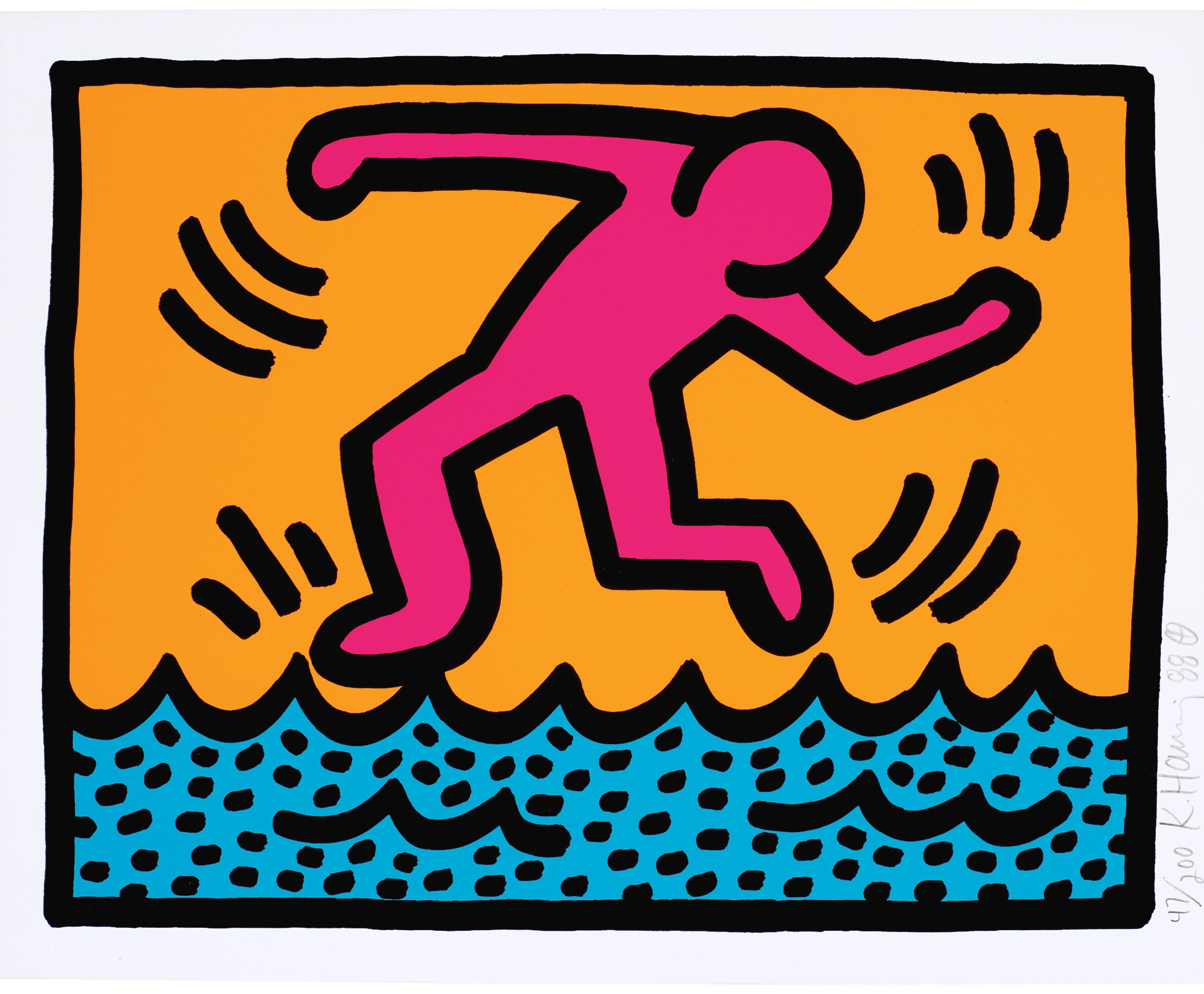 KEITH HARING | UNTITLED (L. P. 97)
