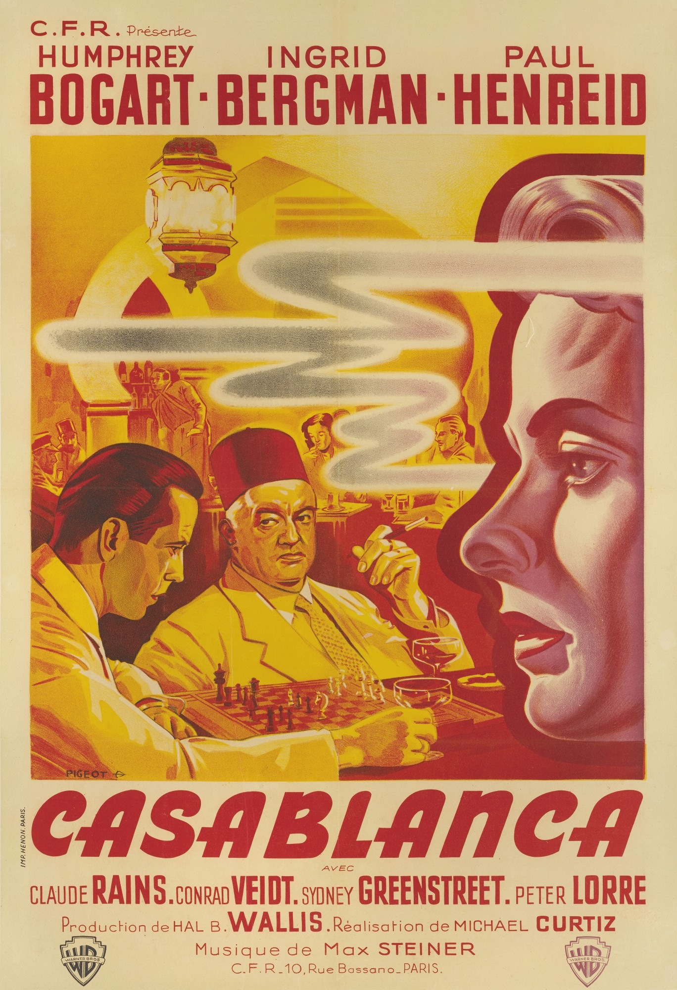 CASABLANCA (1942) FIRST FRENCH RELEASE POSTER, 1947 | Original Film Posters  Online2020 | Sotheby's