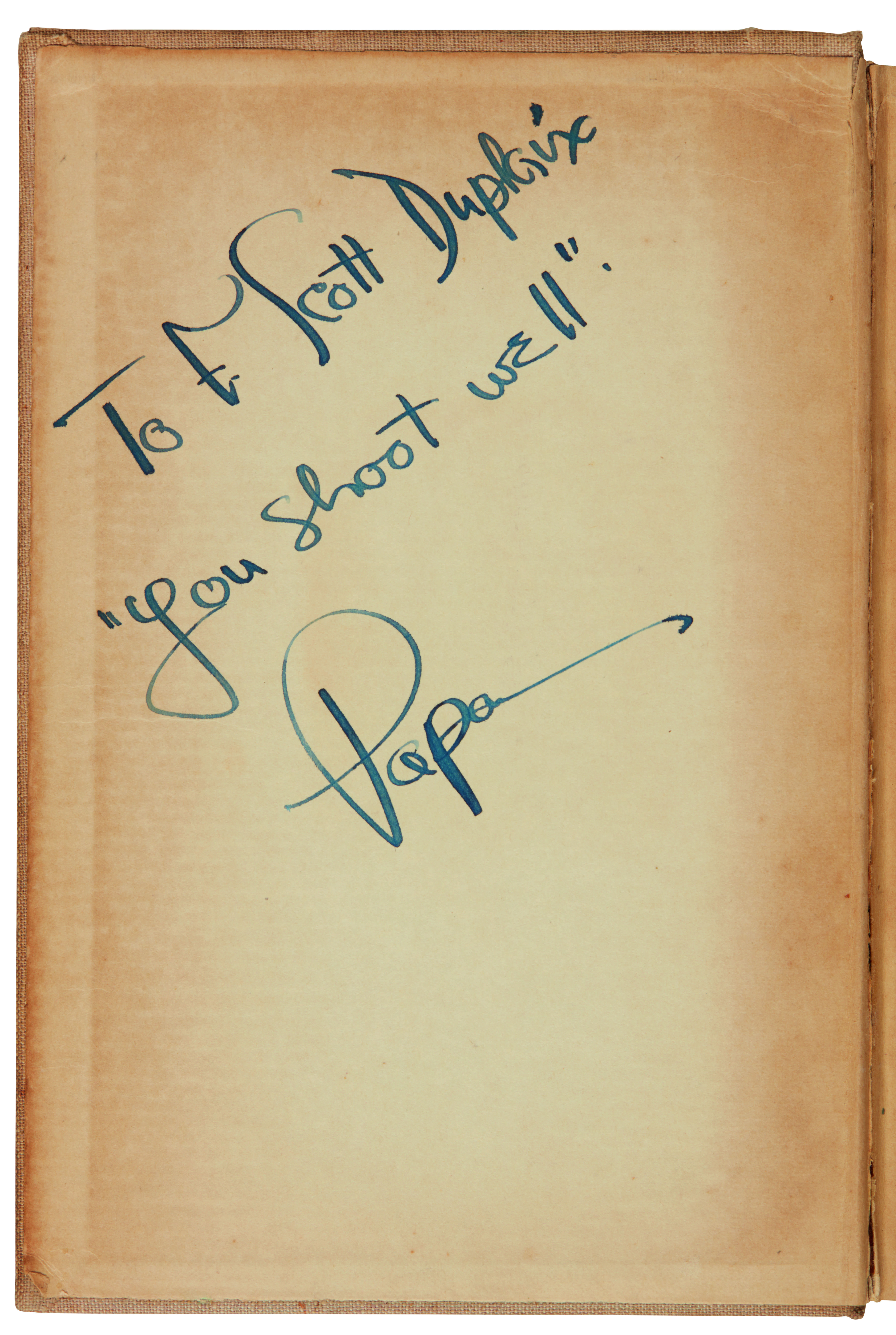 View full screen - View 1 of Lot 169. Hemingway, For Whom the Bell Tolls, 1940, inscribed.