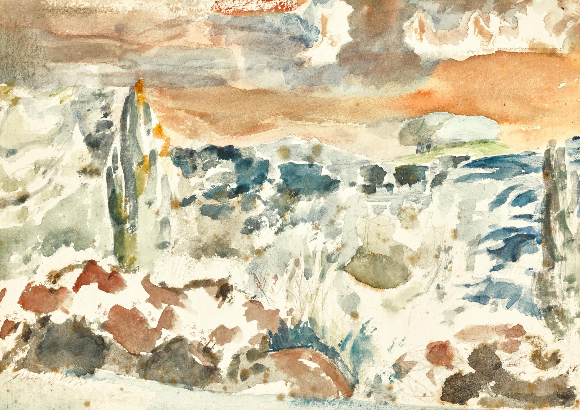 PAUL NASH   LANDSCAPE WITH INHABITED SKY