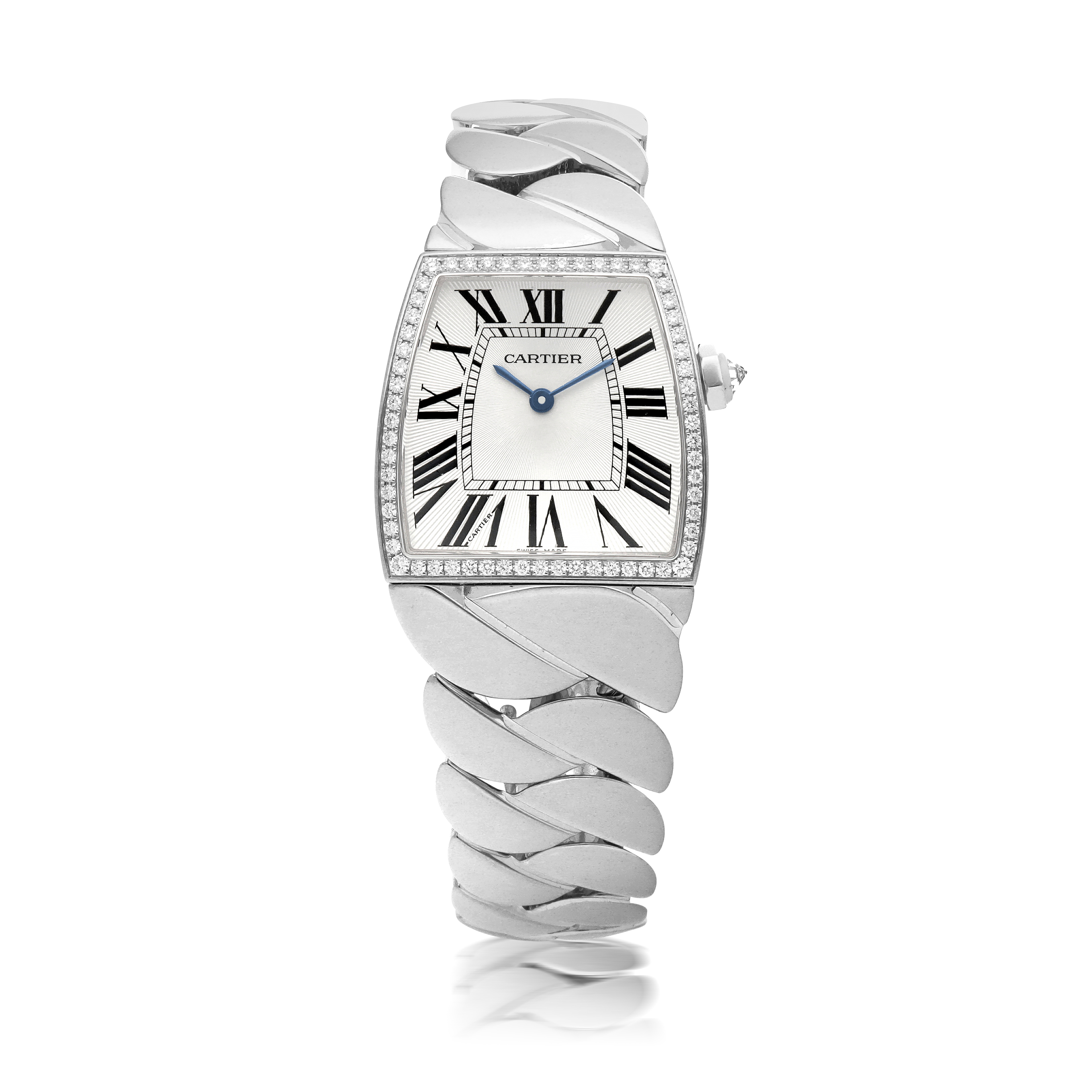 View full screen - View 1 of Lot 561. CARTIER | LA DONA, REF 2895, WHITE GOLD AND DIAMOND-SET WRISTWATCH WITH BRACELET   CIRCA 2005.
