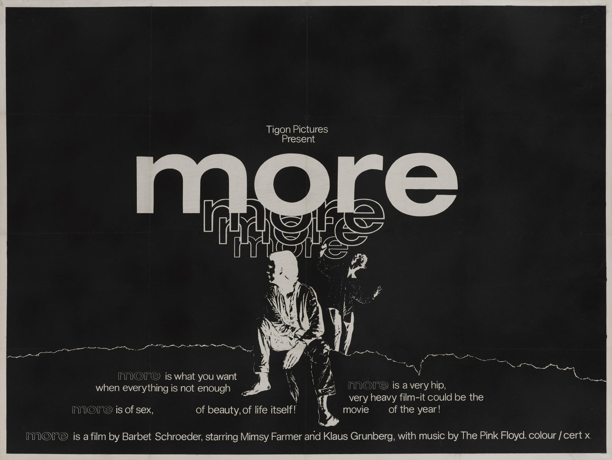 MORE (1969) POSTER, BRITISH