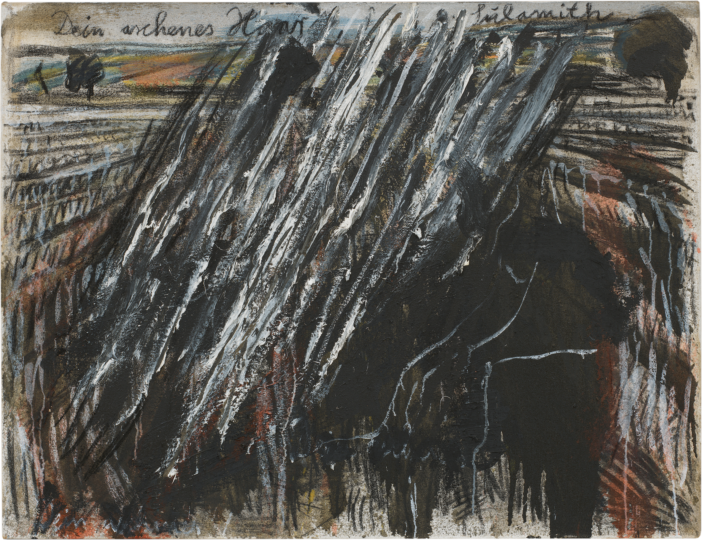 View full screen - View 1 of Lot 133. ANSELM KIEFER | DEIN ASCHENES HAAR SULAMITH (YOUR ASHEN HAIR SULAMITH).