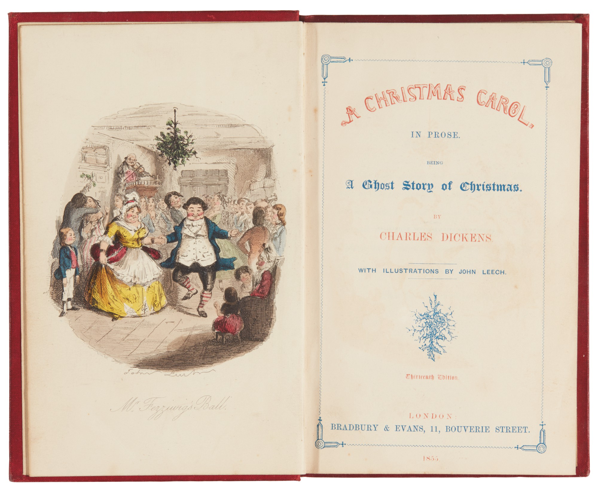 Dickens, A Christmas Carol, 1855, thirteenth edition