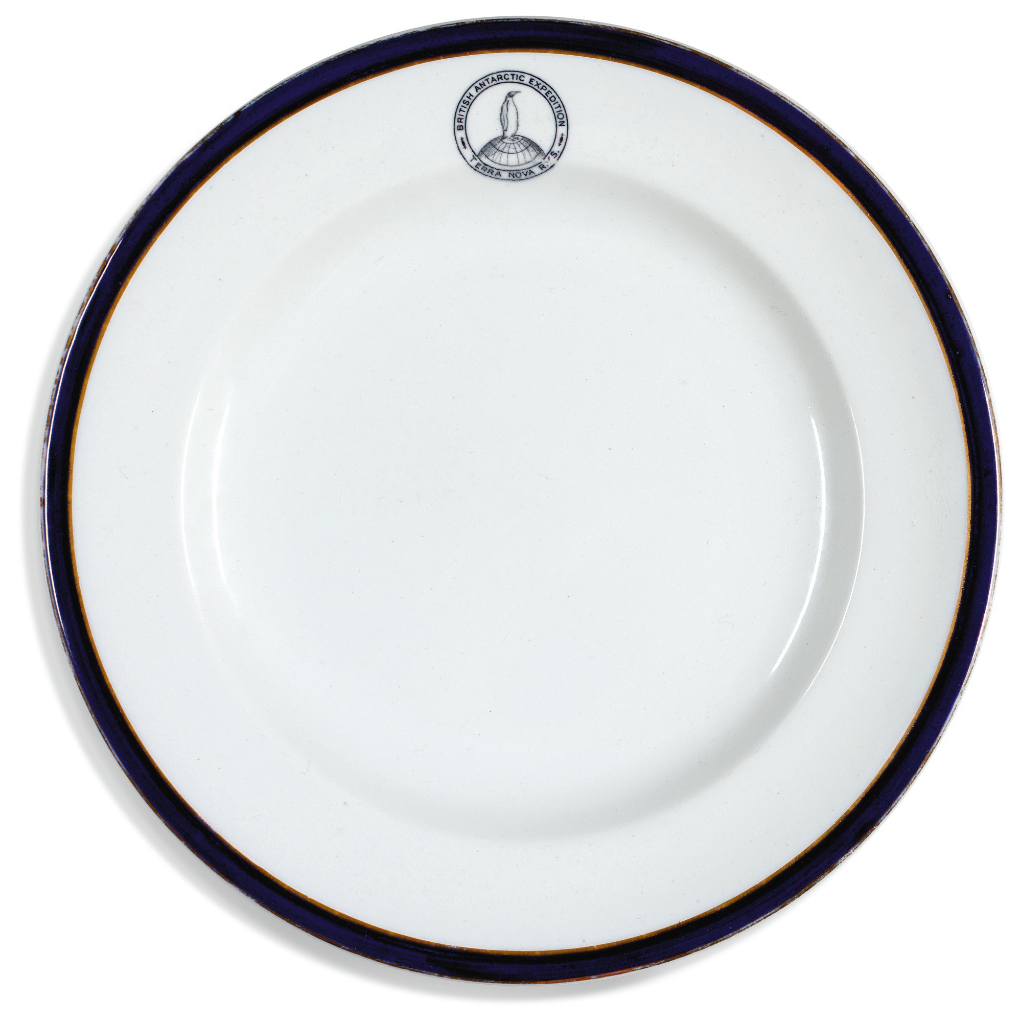 Dinner plate from the British Antarctic Expedition (Terra Nova), 1910-1913   Dunn Bennett Patent