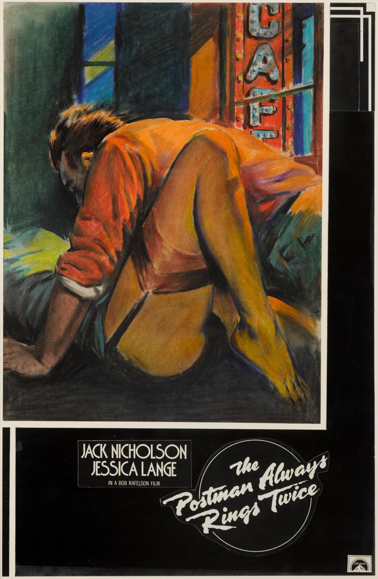 THE POSTMAN ALWAYS RINGS TWICE (1981) ORIGINAL ARTWORK, BRITISH