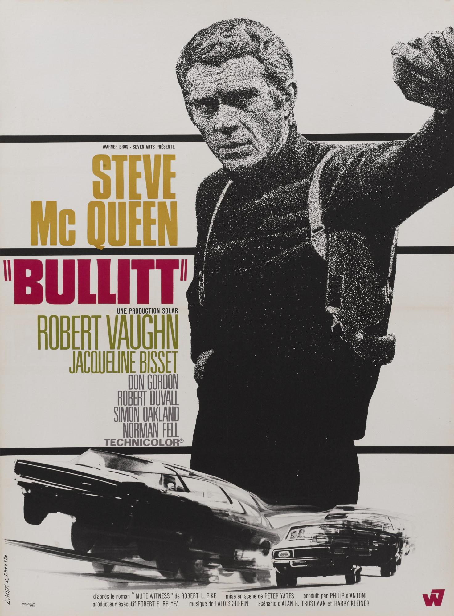 BULLITT (1968) POSTER, FRENCH