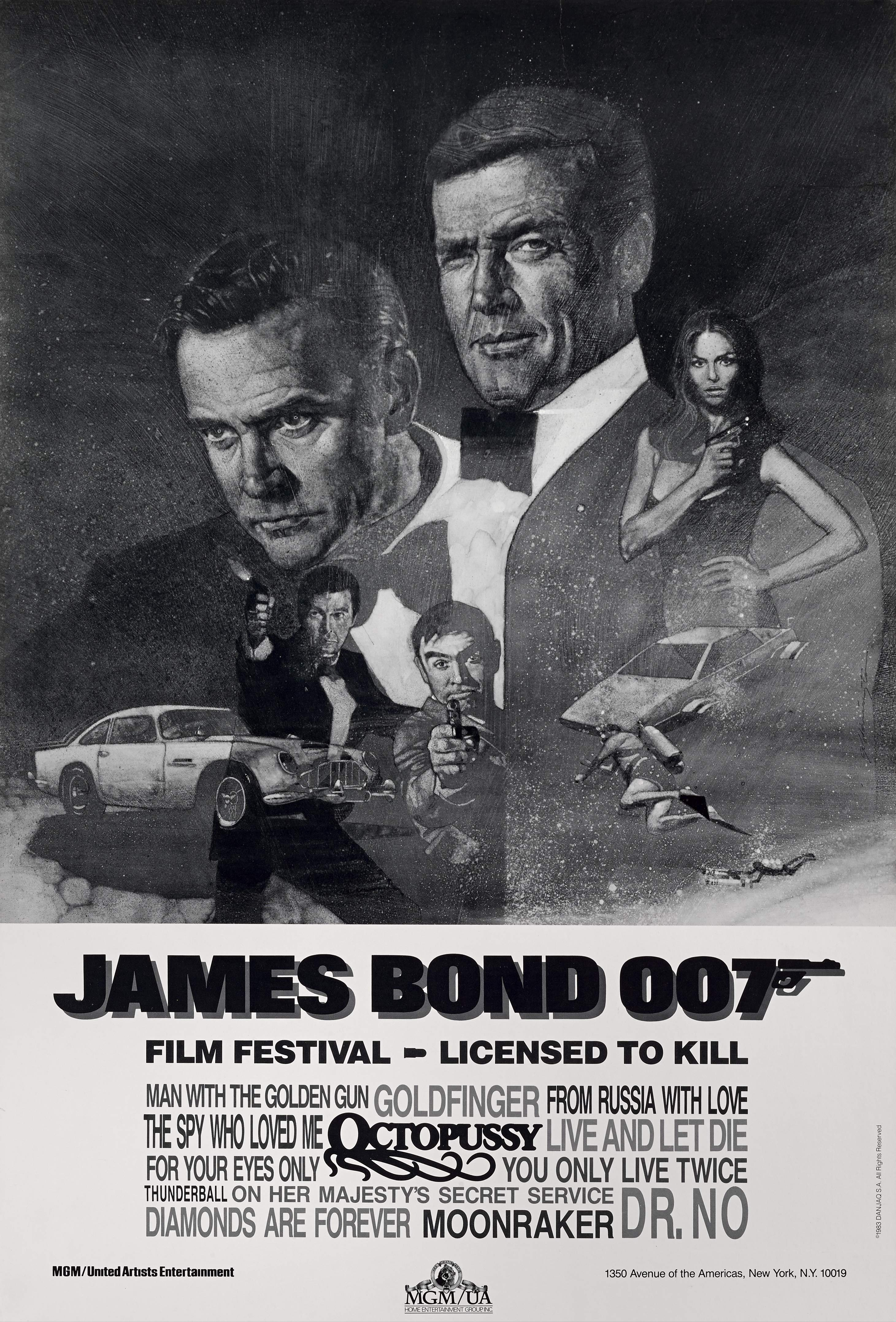 View 1 of Lot 145. JAMES BOND 007, FILM FESTIVAL, LICENSED TO KILL (1983) POSTER, US  .