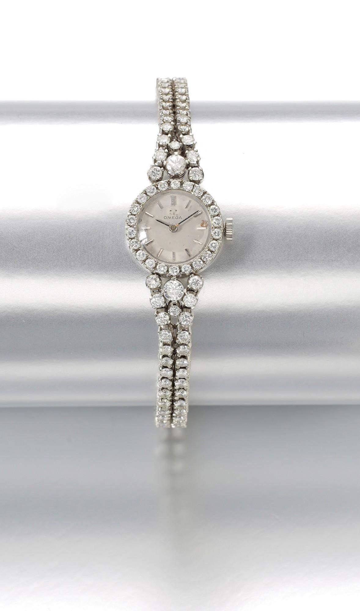 LADY'S DIAMOND WRISTWATCH   OMEGA,  1960s