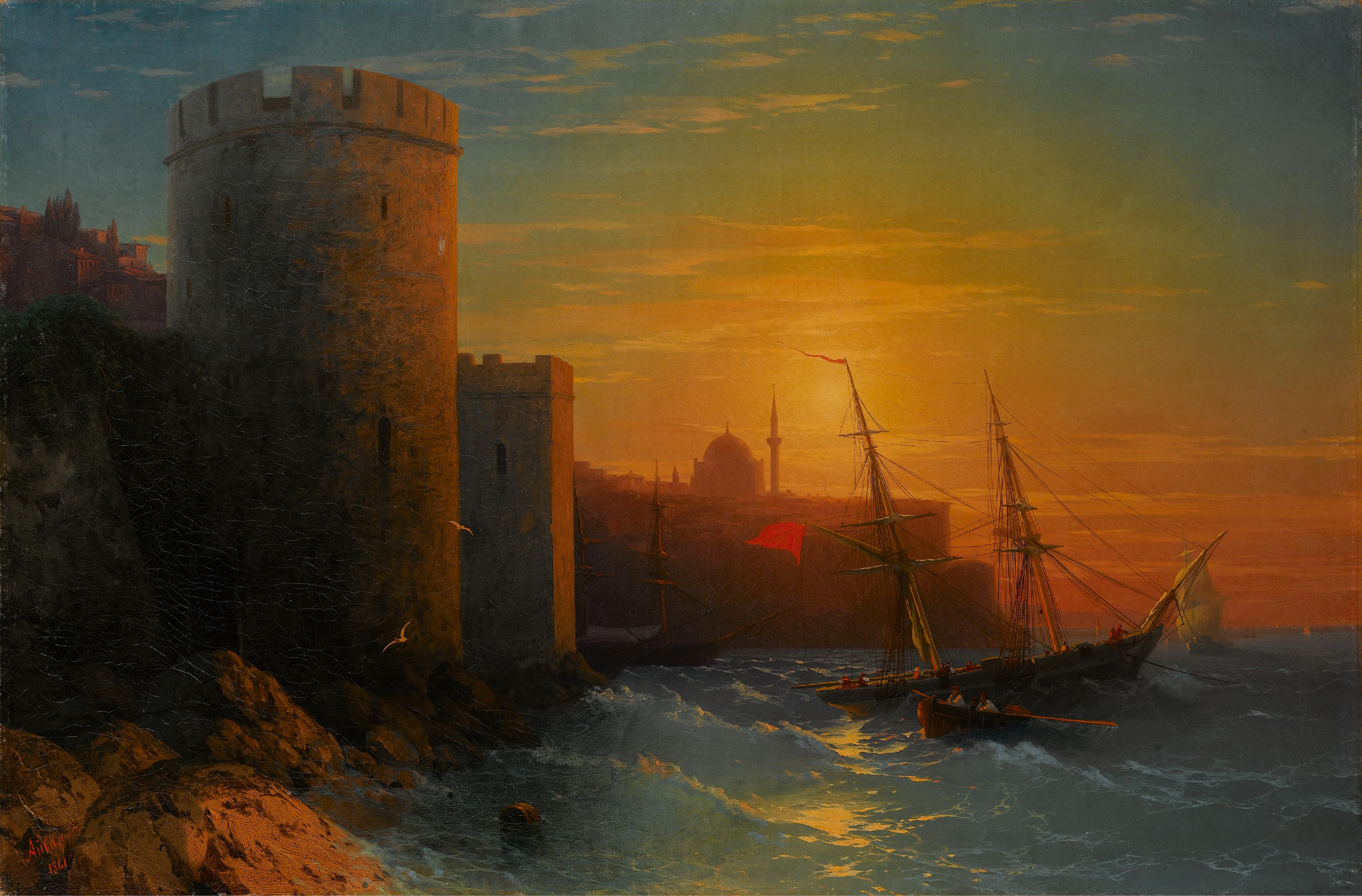 IVAN KONSTANTINOVICH AIVAZOVSKY |Sunset over Constantinople