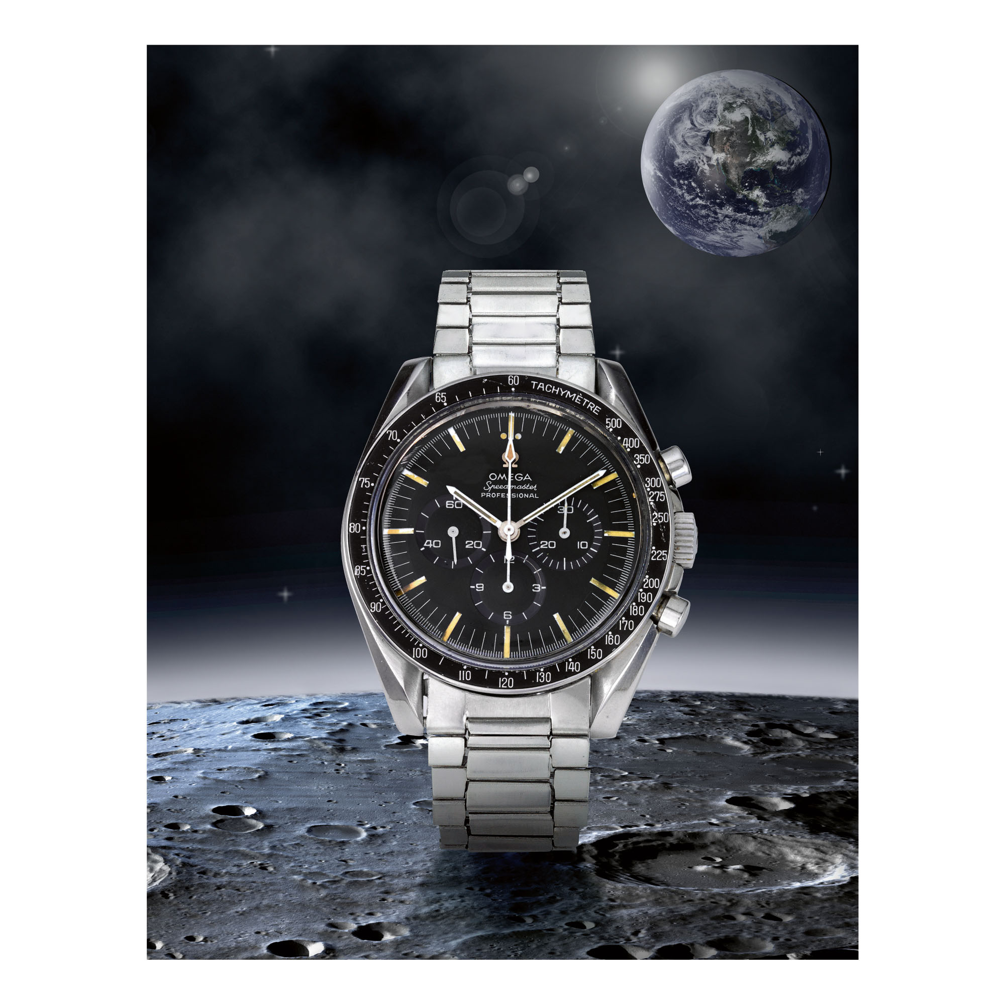 OMEGA | SPEEDMASTER REF 105.012-66 'PROFESISIONAL', A STAINLESS STEEL CHRONOGRAPH WRISTWATCH WITH BRACELET, MADE IN 1967