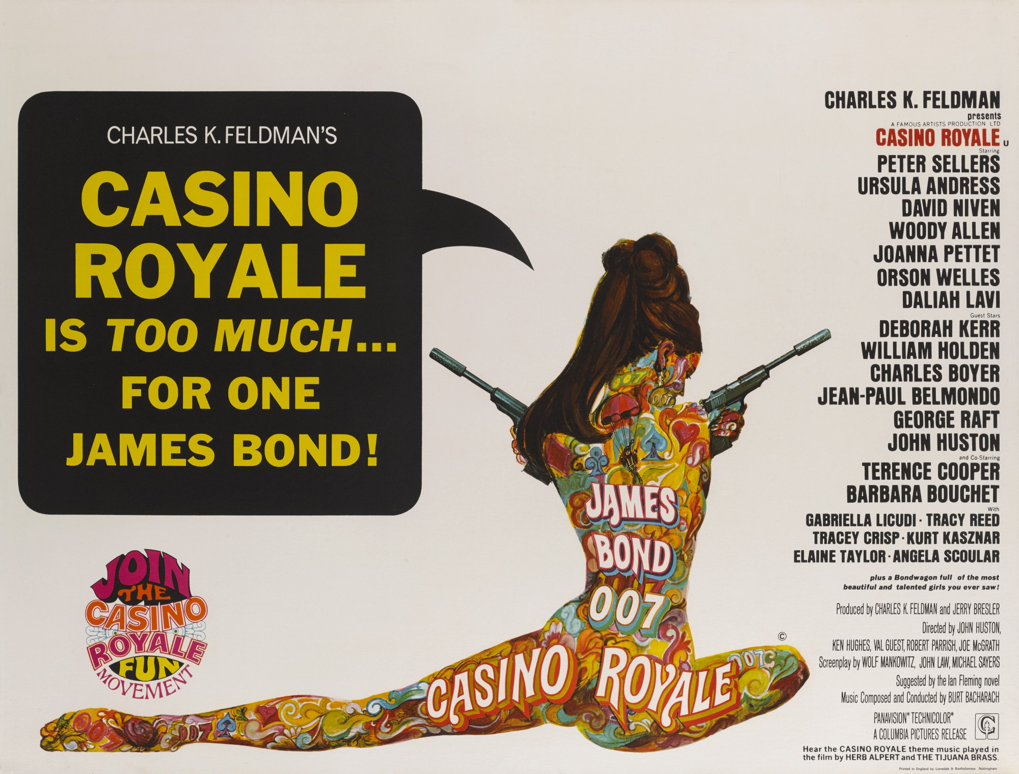 CASINO ROYALE (1967) POSTER, BRITISH