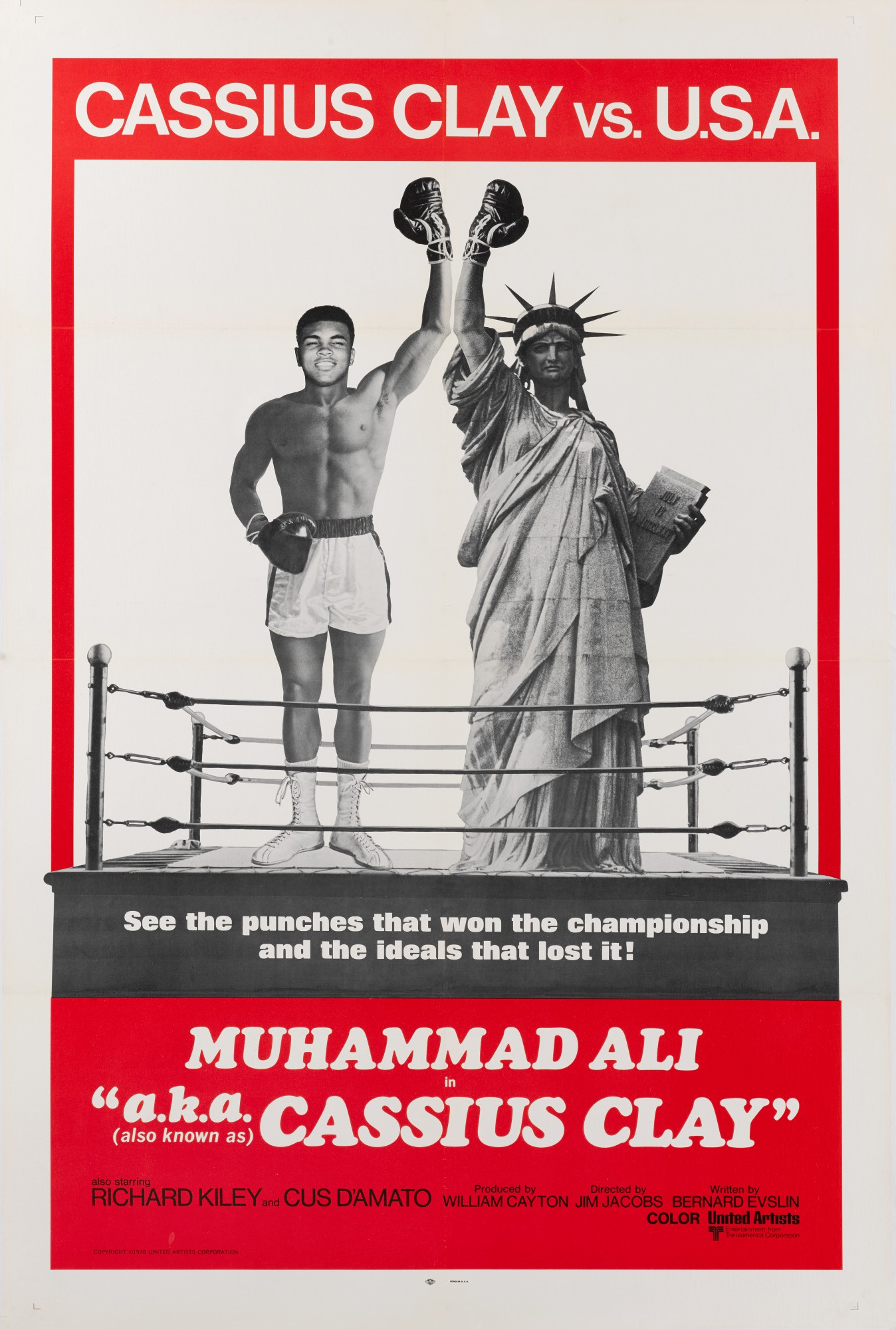 A.K.A. CASSIUS CLAY (1970) POSTER, US