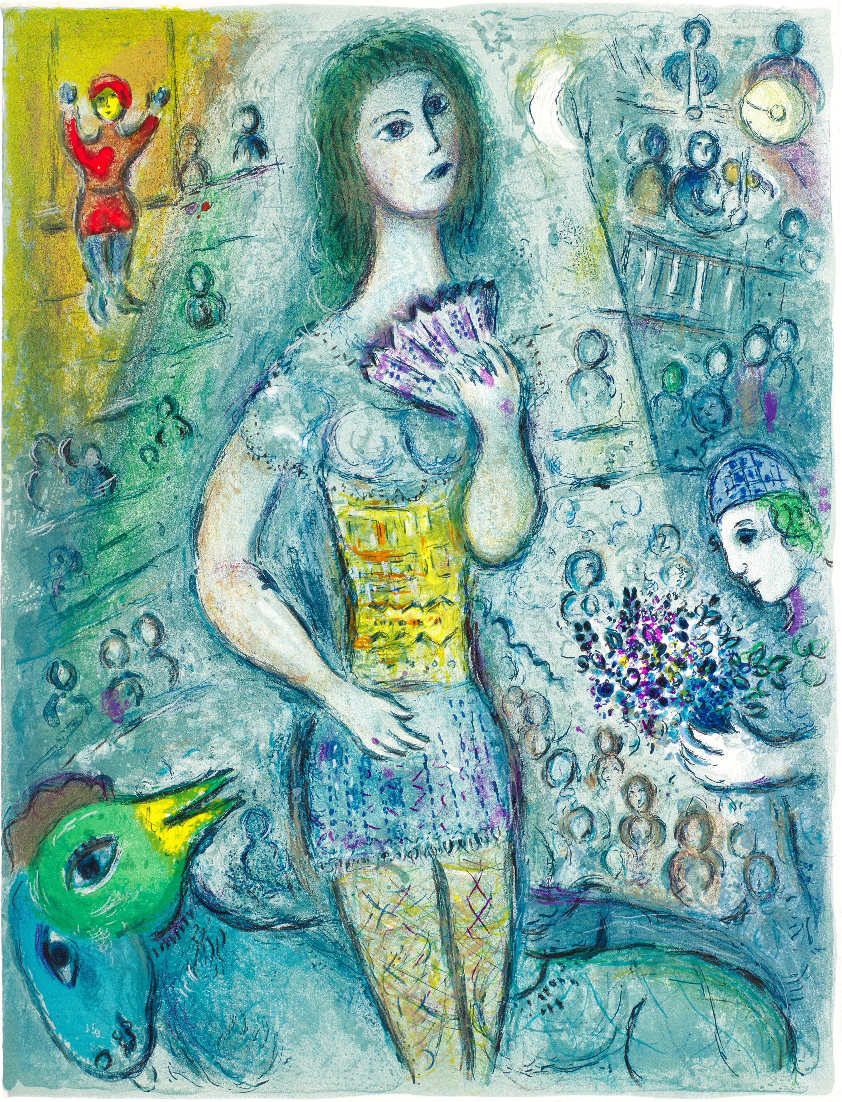 View full screen - View 1 of Lot 52. MARC CHAGALL | LE CIRQUE: ONE PLATE (M. 521; C. BKS. 68).