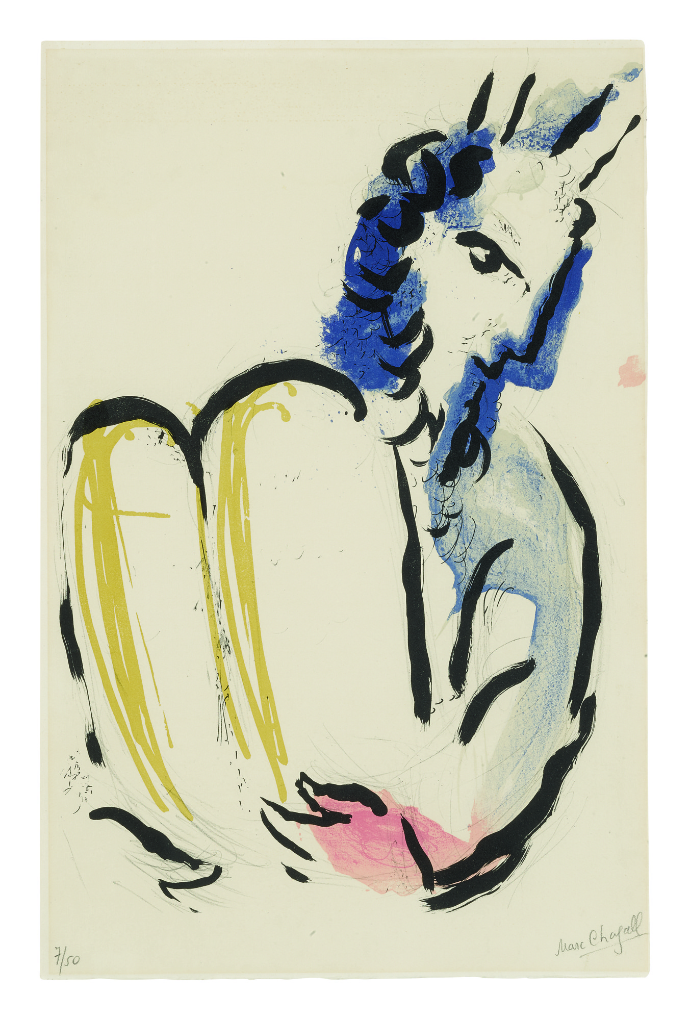 MARC CHAGALL | MOSES (MOURLOT 114)