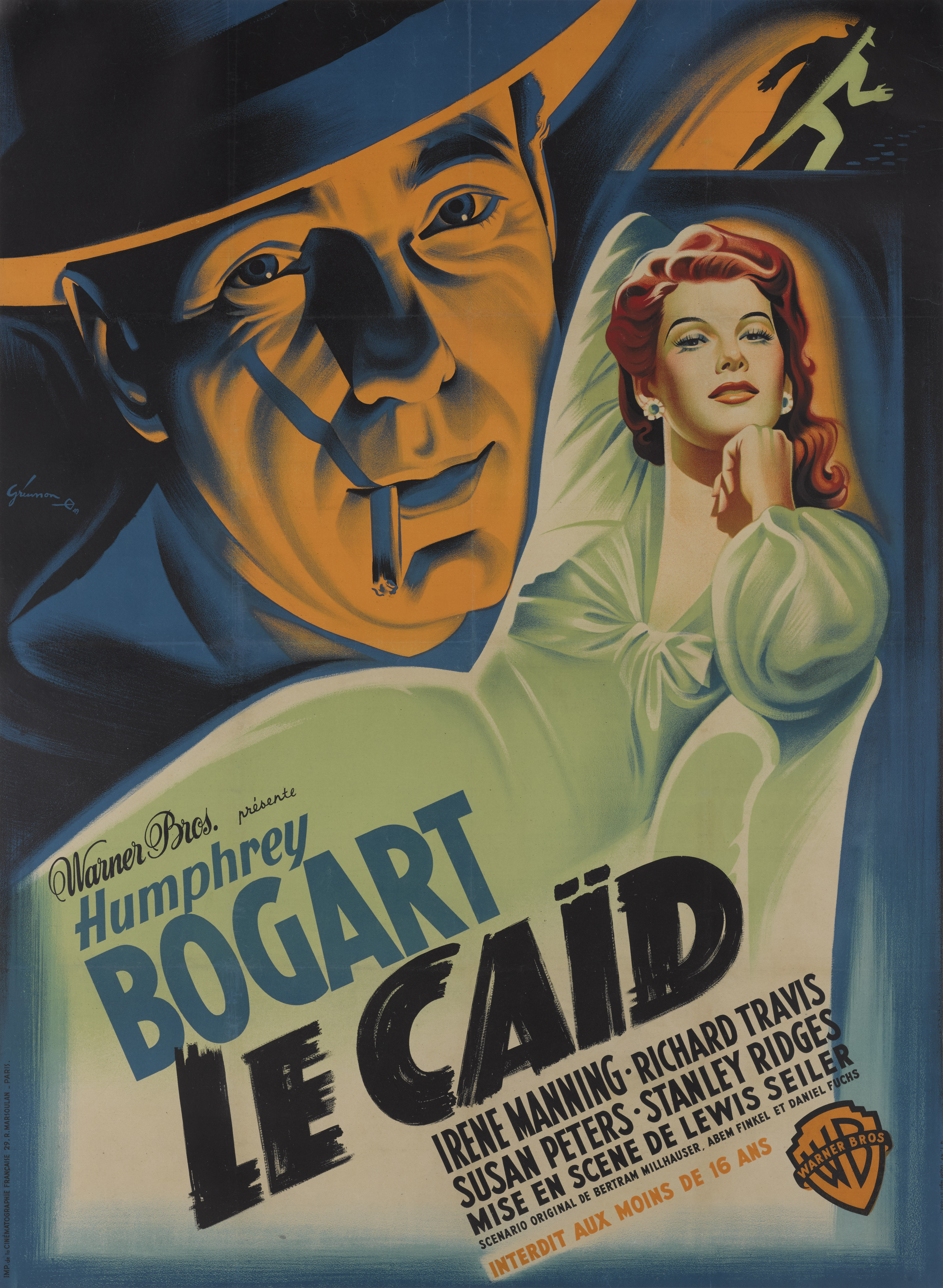 View full screen - View 1 of Lot 21. The Big Shot / Le Caid (1942) Poster, French, First French release 1949 .