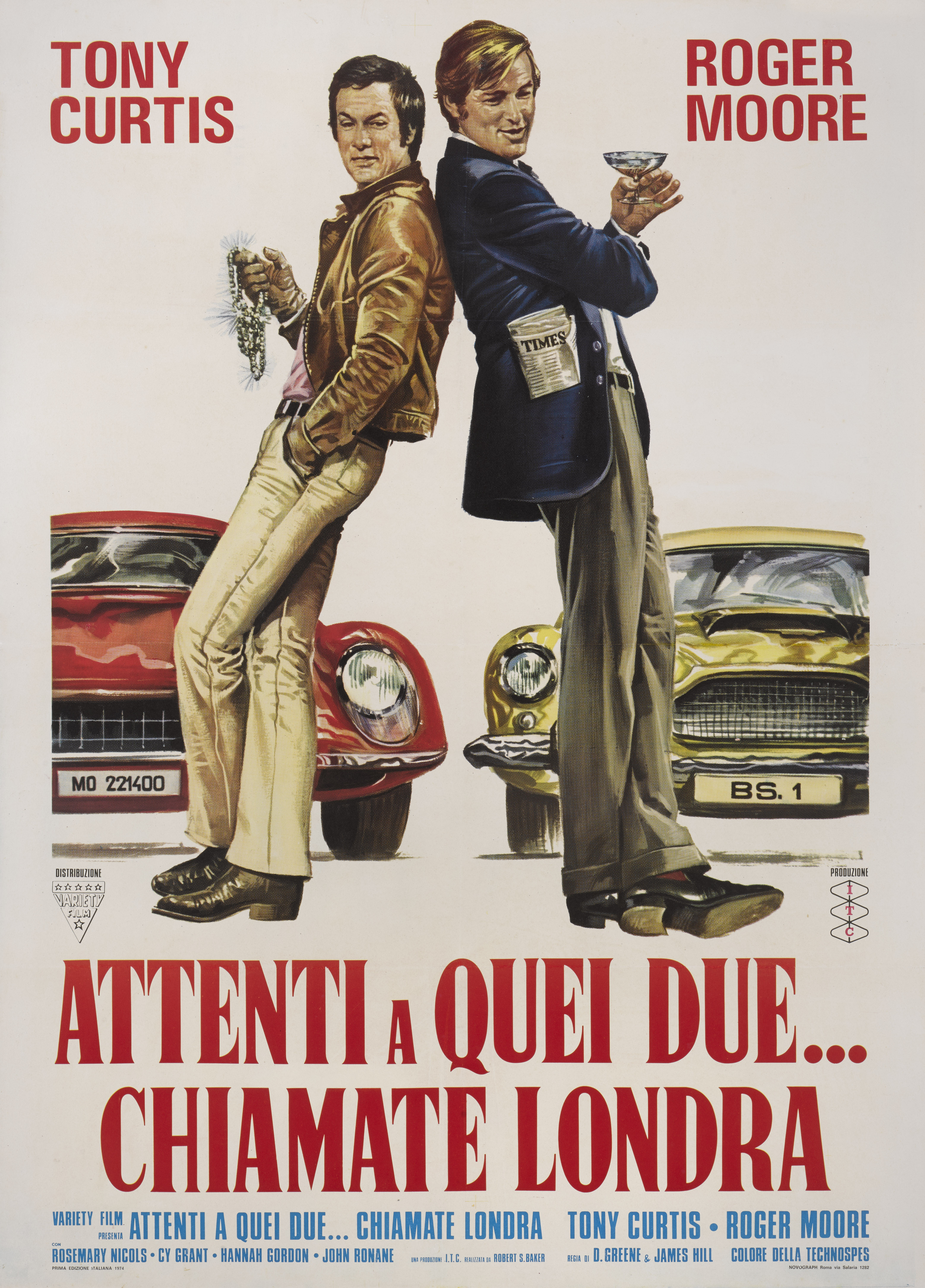 View full screen - View 1 of Lot 32. The Persuaders / Attenti a Quei due…..Chiamate Londra (1971) Poster, Italian, First Italian release 1974 .