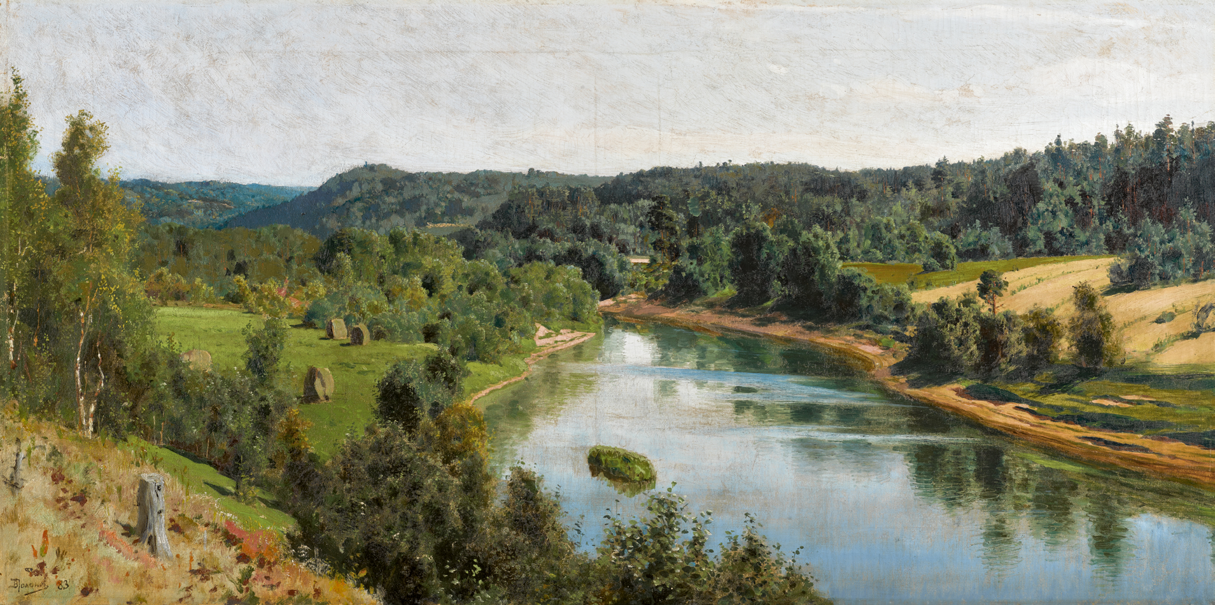 View full screen - View 1 of Lot 34. VASILY DMITRIEVICH POLENOV | The Oyat River .