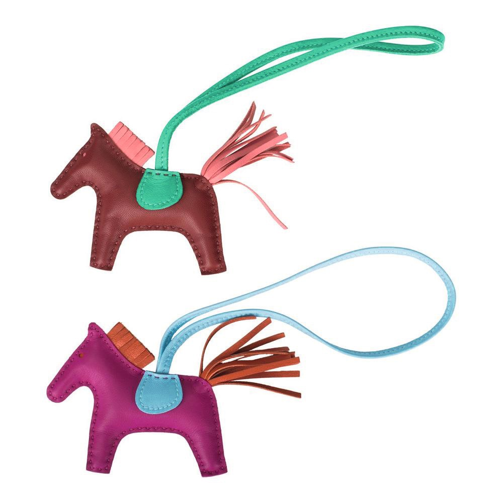 Hermès Set of Two Grigri Rodeo Bag Charms Size PM