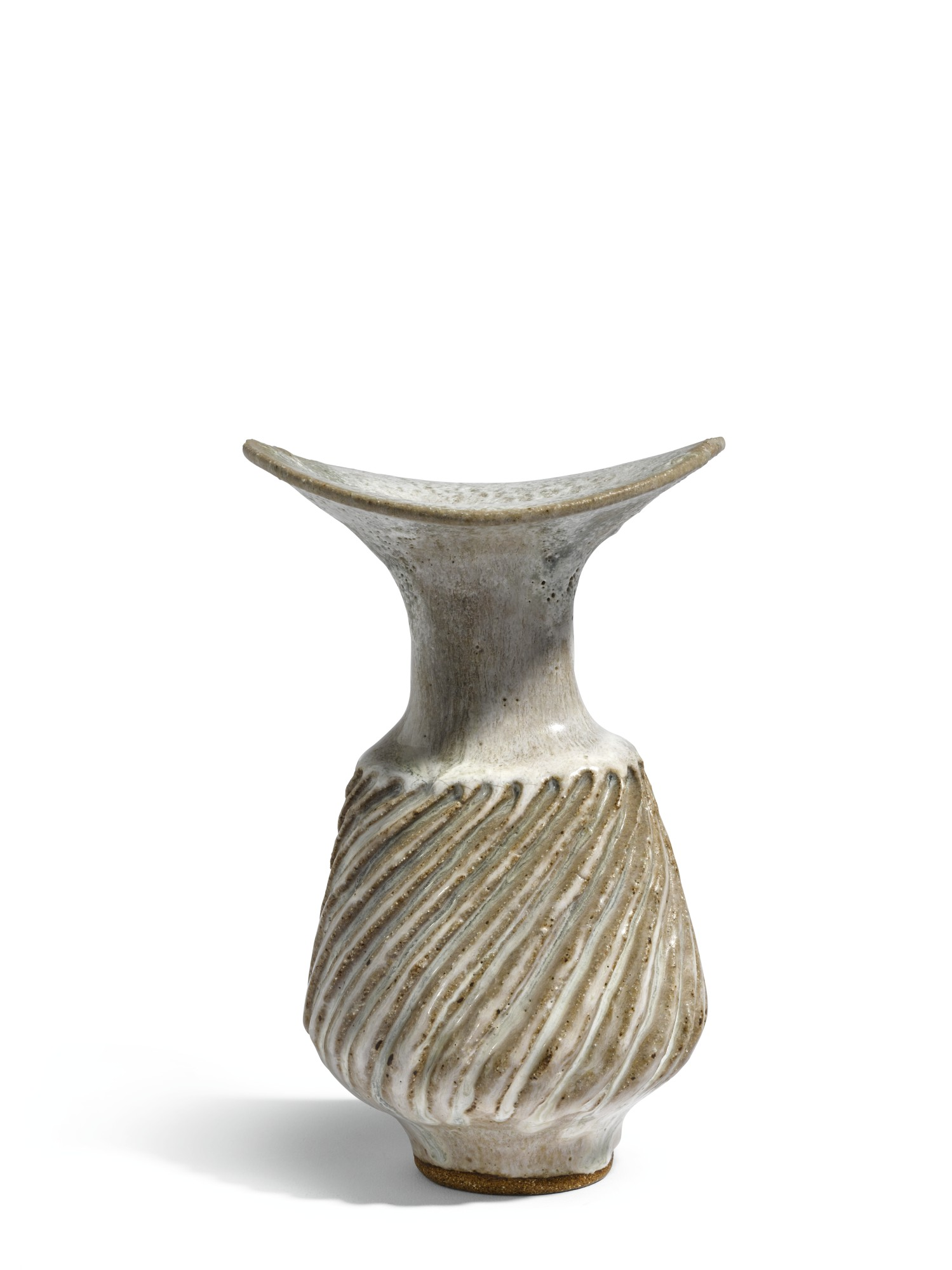 DAME LUCIE RIE | VASE WITH FLUTED BODY AND FLARING LIP
