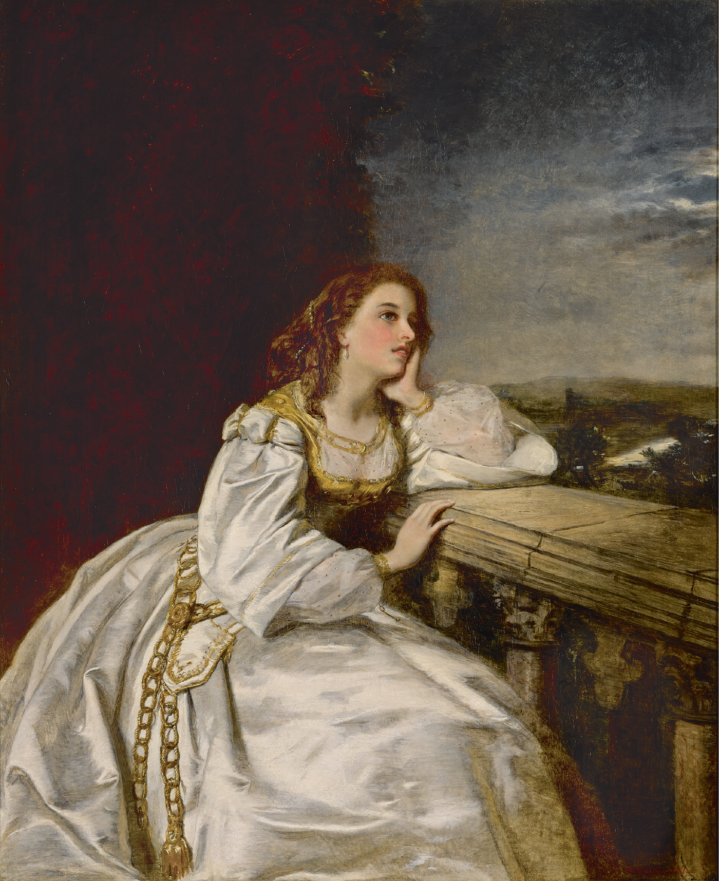 "WILLIAM POWELL FRITH, R.A. | Juliet, ""O that I were a Glove upon that Hand"""