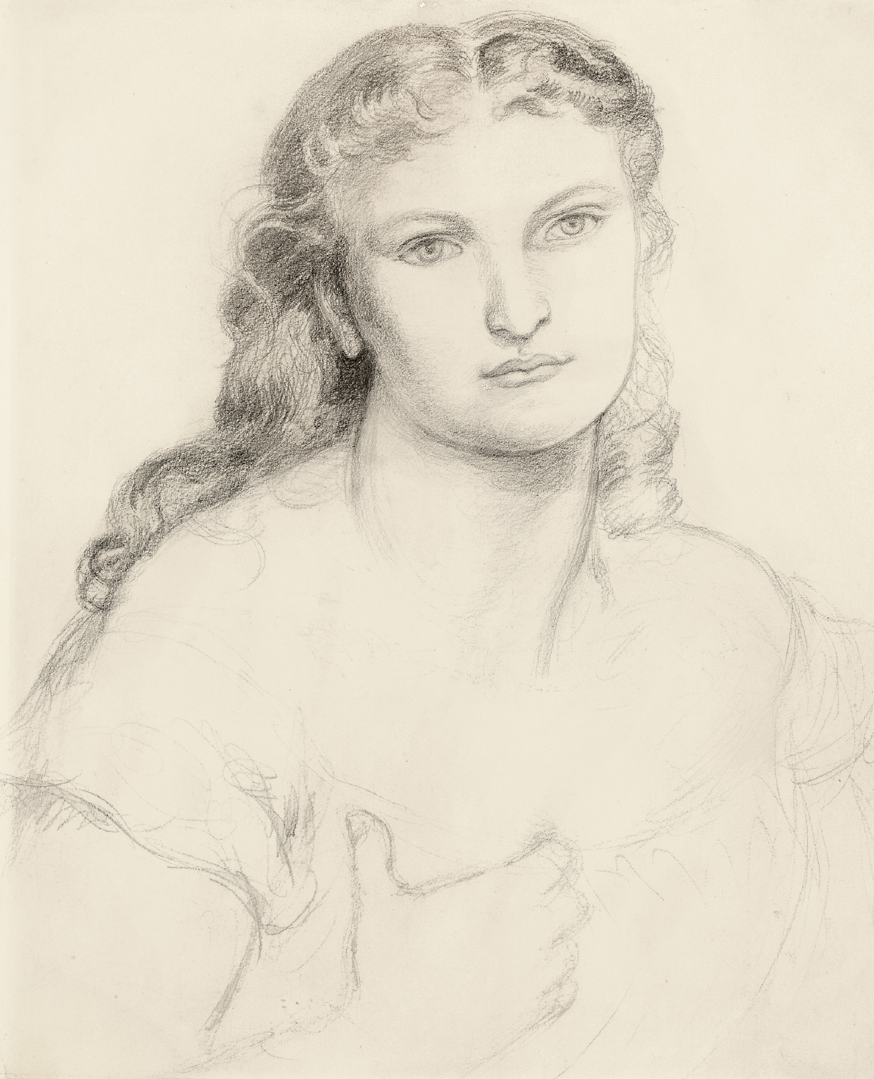 DANTE GABRIEL ROSSETTI | Sketch for Venus Verticordia