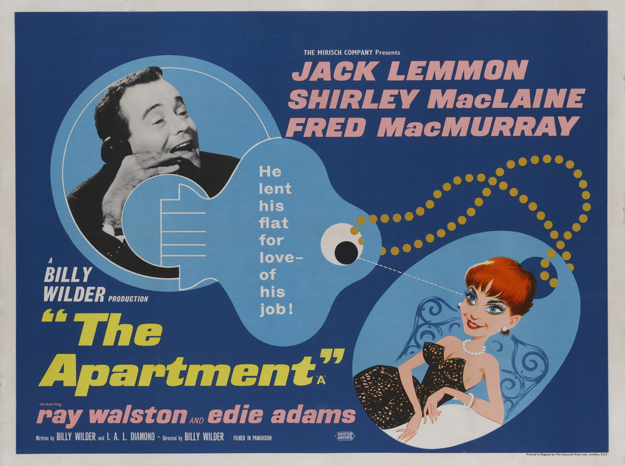 THE APARTMENT (1960) POSTER, BRITISH