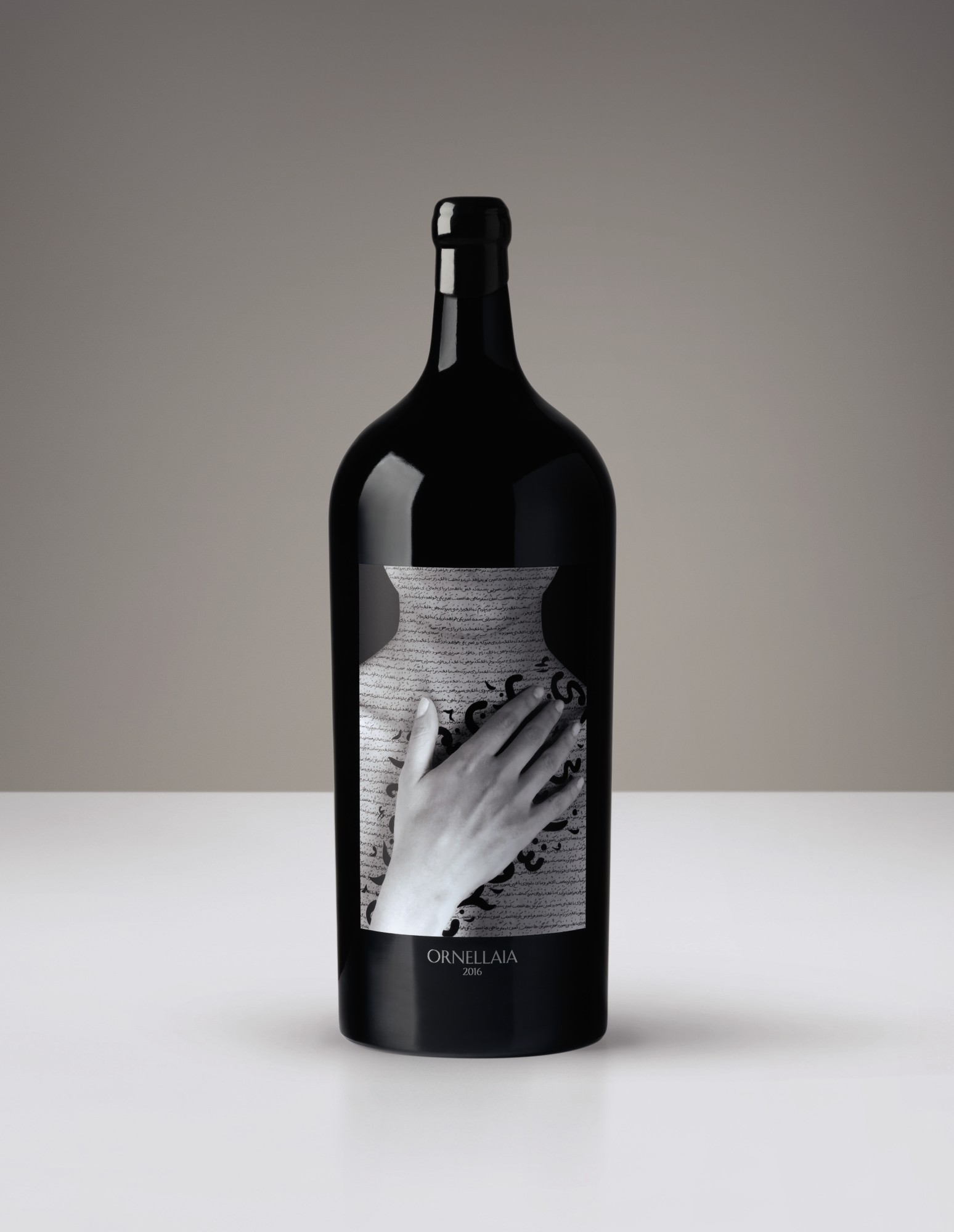 1 SALMANAZAR (9L) ORNELLAIA, VENDEMMIA D'ARTISTA, 'LA TENSIONE' BY SHIRIN NESHAT, 2016  WITH VISIT, STAY & DINNER AT ORNELLAIA FOR 6
