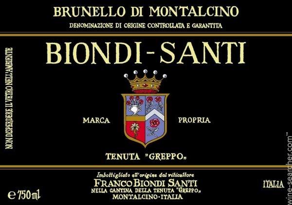 View full screen - View 1 of Lot 126. Brunello di Montalcino, Tenuta Greppo Riserva 1999 Biondi-Santi (2 BT).