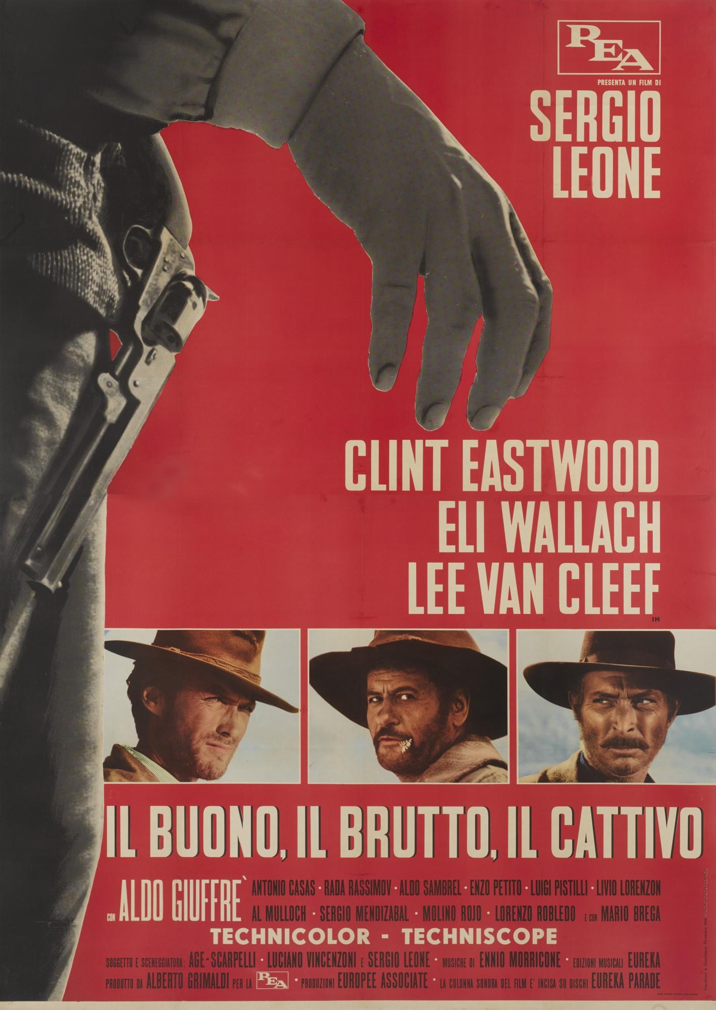 IL BUONO IL BRUTTO IL CATTIVO/THE GOOD, THE BAD AND THE UGLY (1966) POSTER, ITALIAN