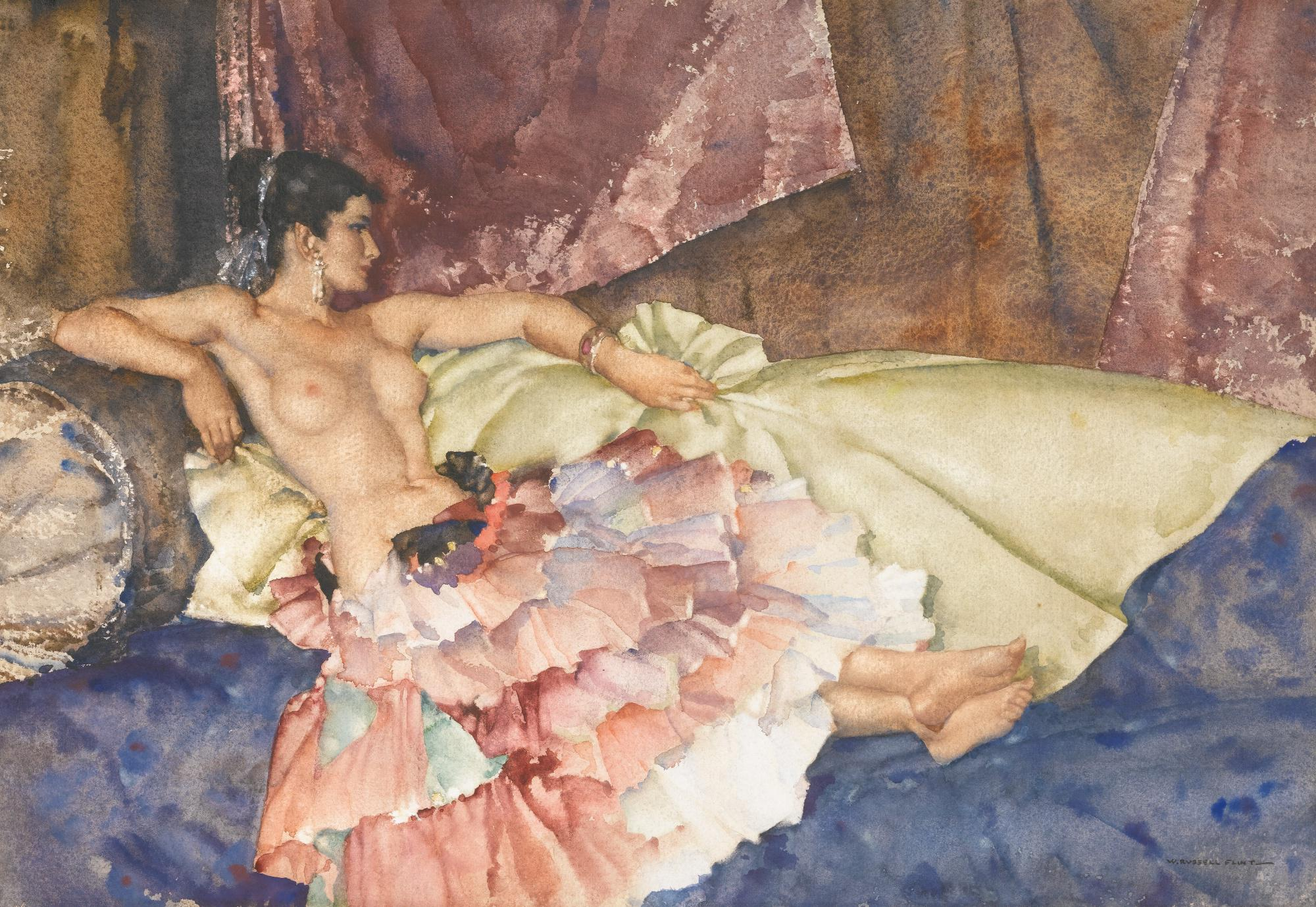 SIR WILLIAM RUSSELL FLINT, R.A., P.R.W.S. | OLEARIA
